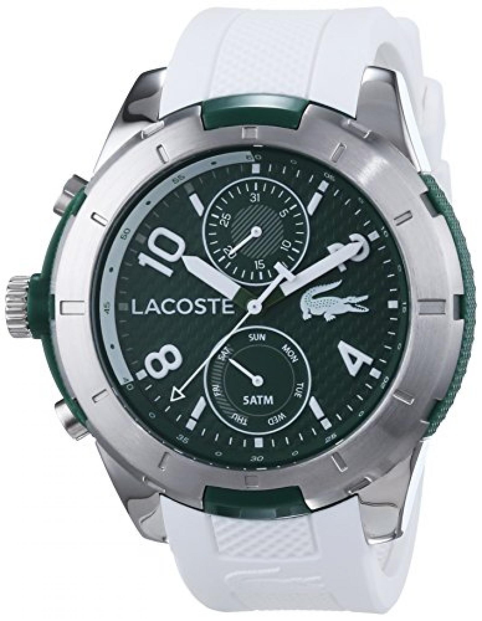 Lacoste Herren-Armbanduhr XL TONGA Analog Quarz Silikon 2010758