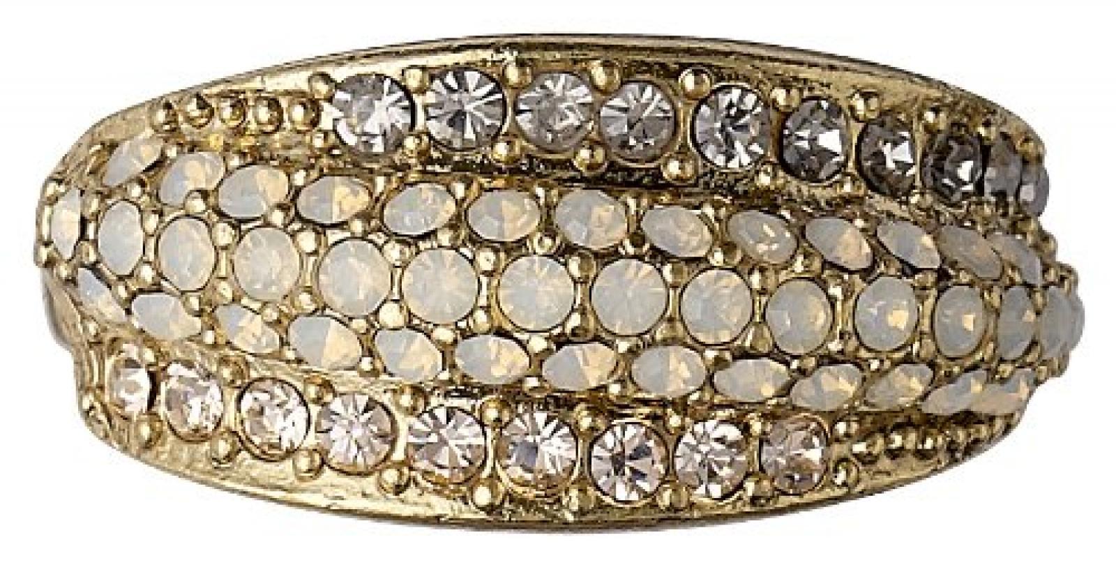 Pilgrim Jewelry Damen-Ring Messing Pilgrim Damen-Ring aus der Serie Classic vergoldet,grau  1.0 cm 601332144