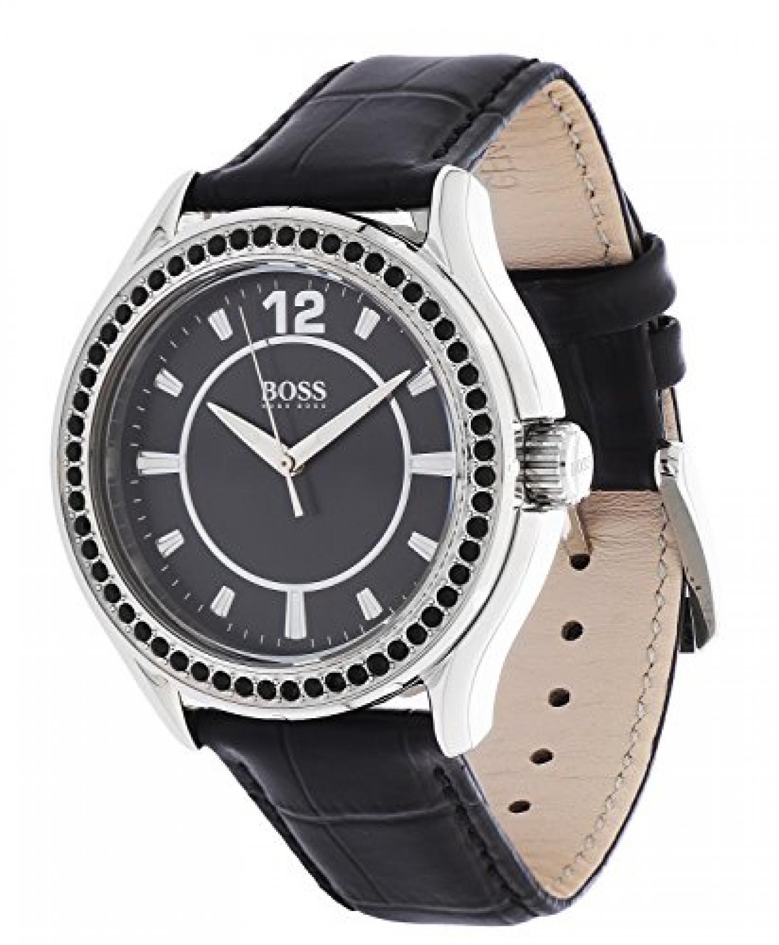 Hugo Boss Damen-Armbanduhr Analog Quarz Leder 1502268