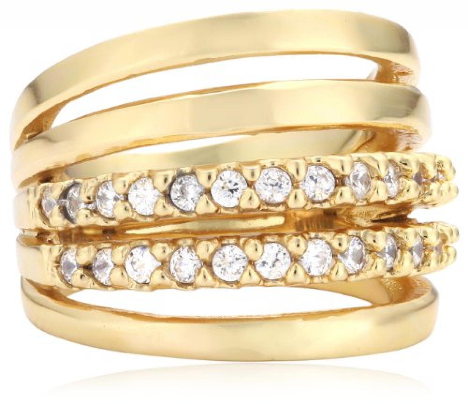 Mike Ellis New York Damen-Ring Edelstahl Zirkonia weiß Gr.52 (16.6) D1519C/3