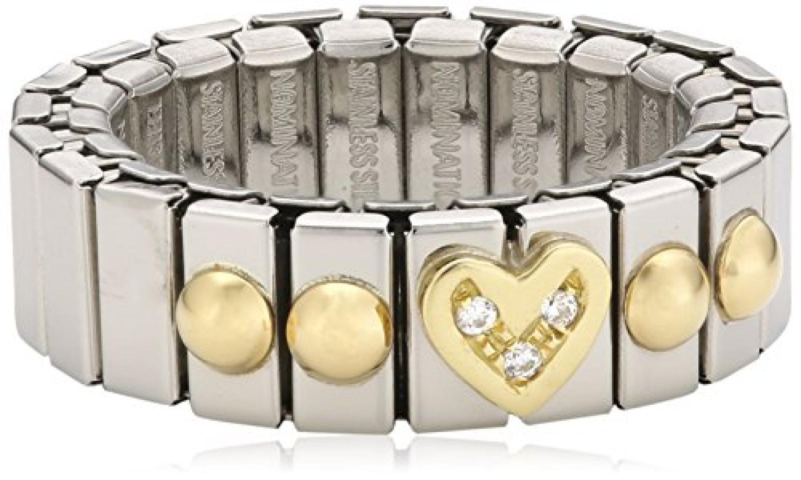 Nomination Damen-Ring Klein Mit Herz Ring größe variabel 040201/006