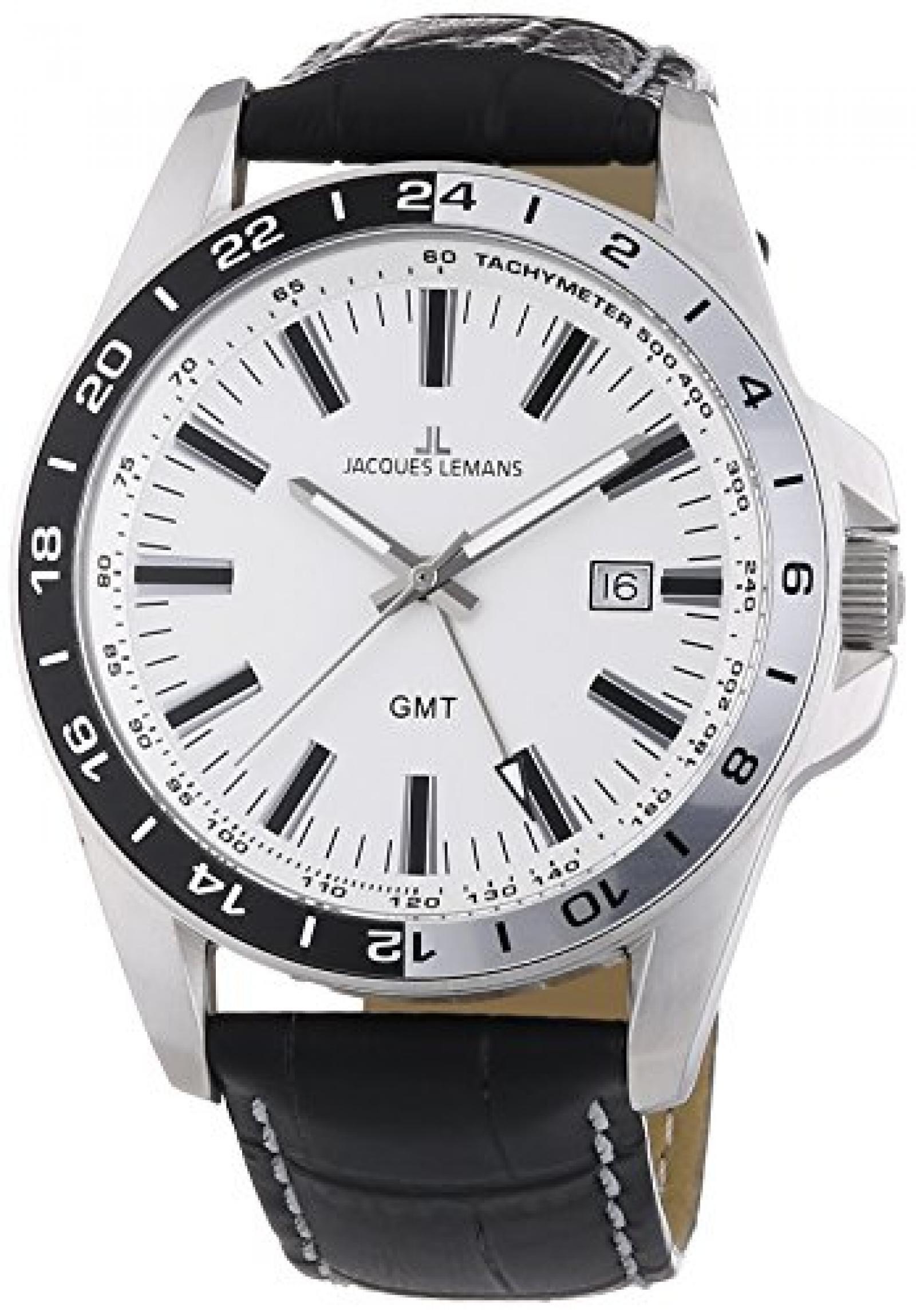 Jacques Lemans Herren-Armbanduhr XL Analog Quarz 1-1328B