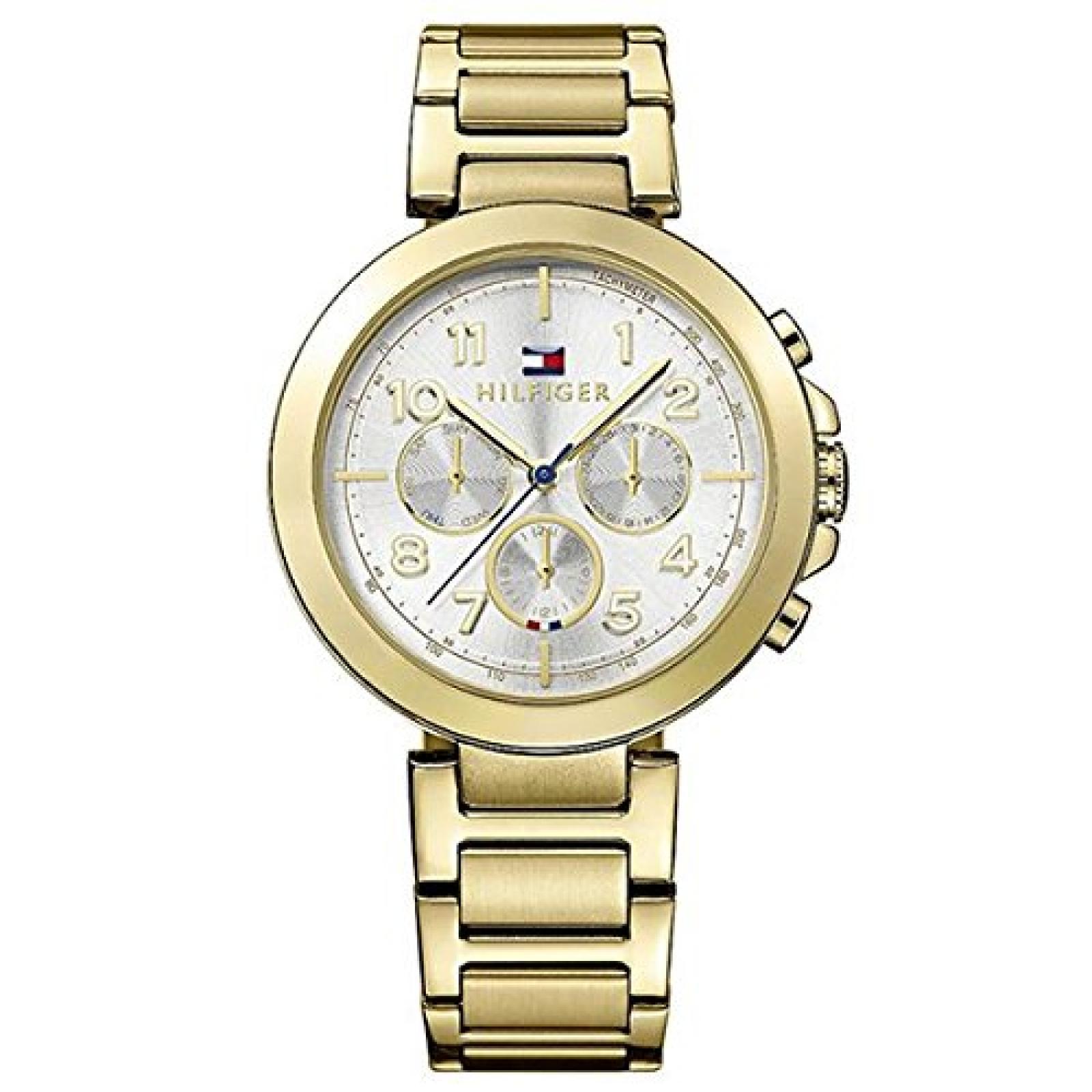 Tommy Hilfiger 1781450 CARY Uhr Damenuhr Edelstahl 50m Analog Datum gold