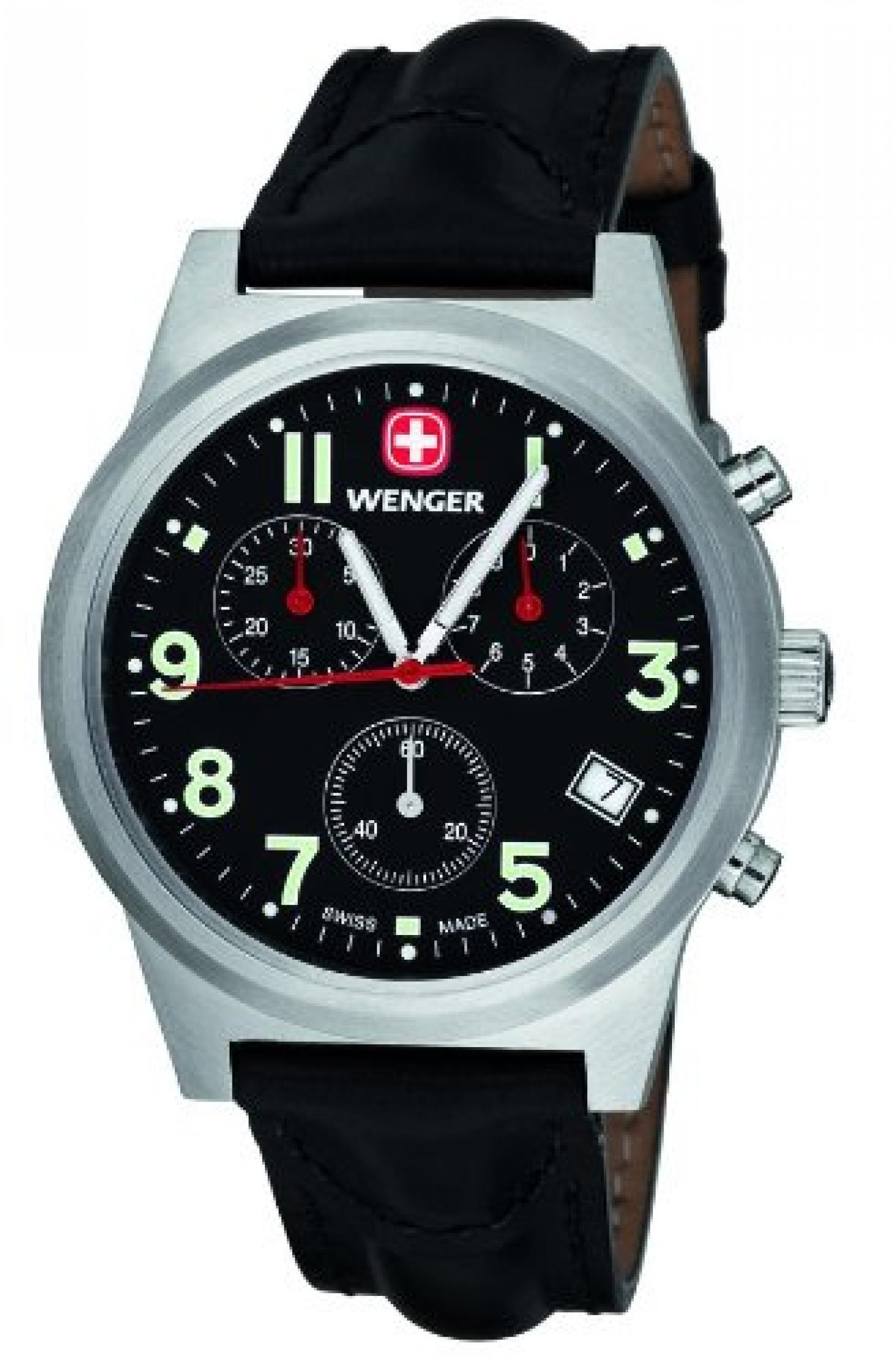 Wenger Herren-Armbanduhr Analog Edelstahl schwarz 72955W.XL