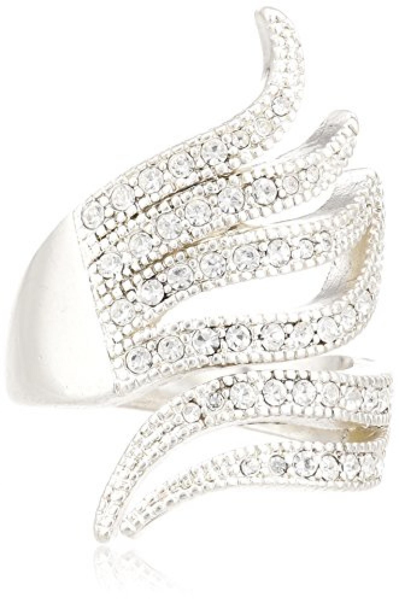 Pilgrim Jewelry Damen-Ring aus der Serie Ringe versilbert weiß 3.1 cm verstellbar Gr. 51-59 271316024