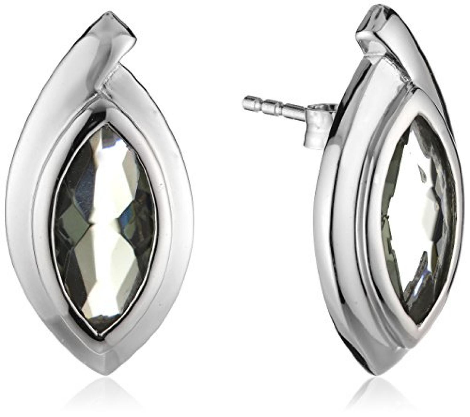 Celesta Damen-Ohrstecker 925 Sterling Silber Glaskristall grau 360220377-3L