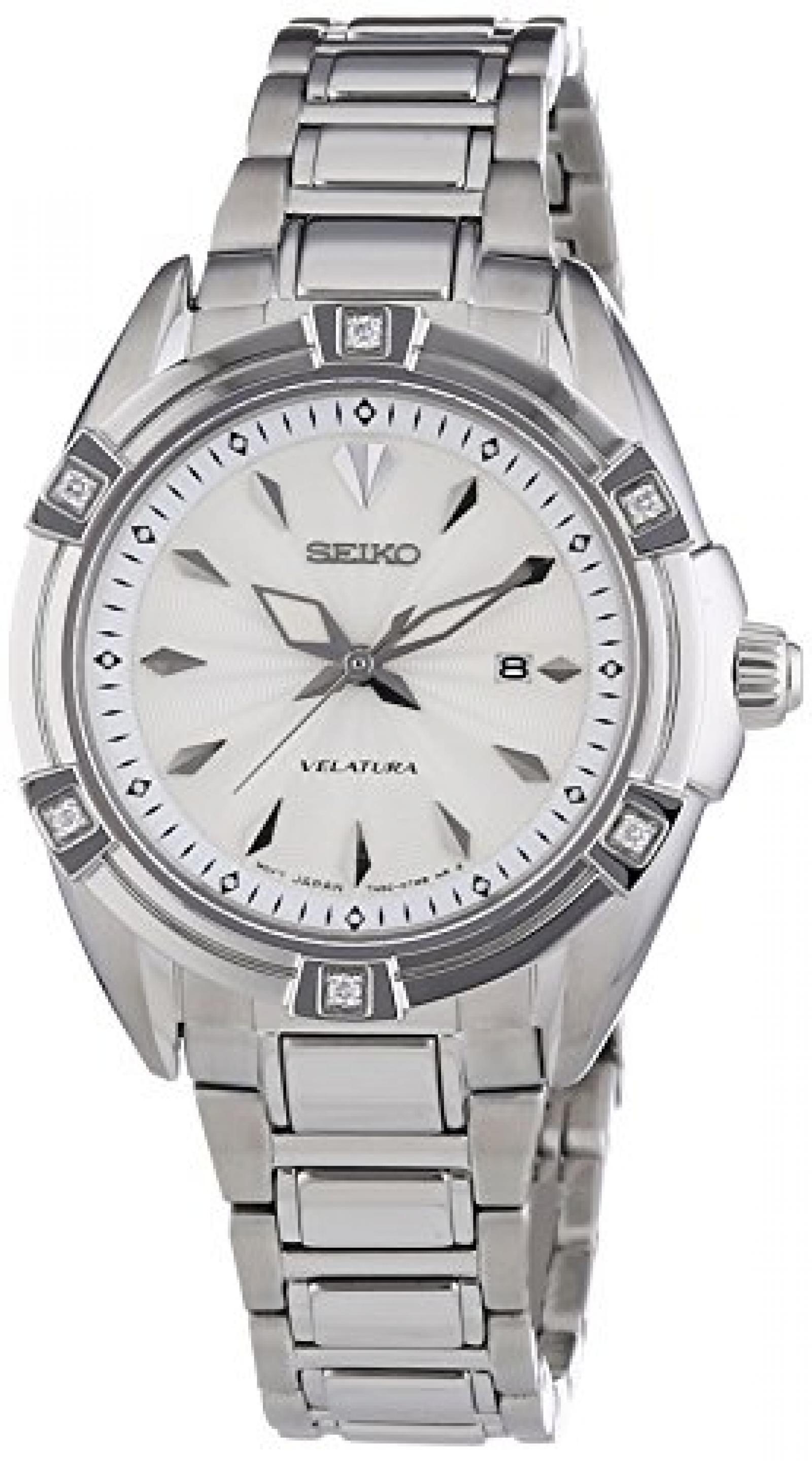 Seiko Damen-Armbanduhr XS Analog Quarz Edelstahl SXDF49P1