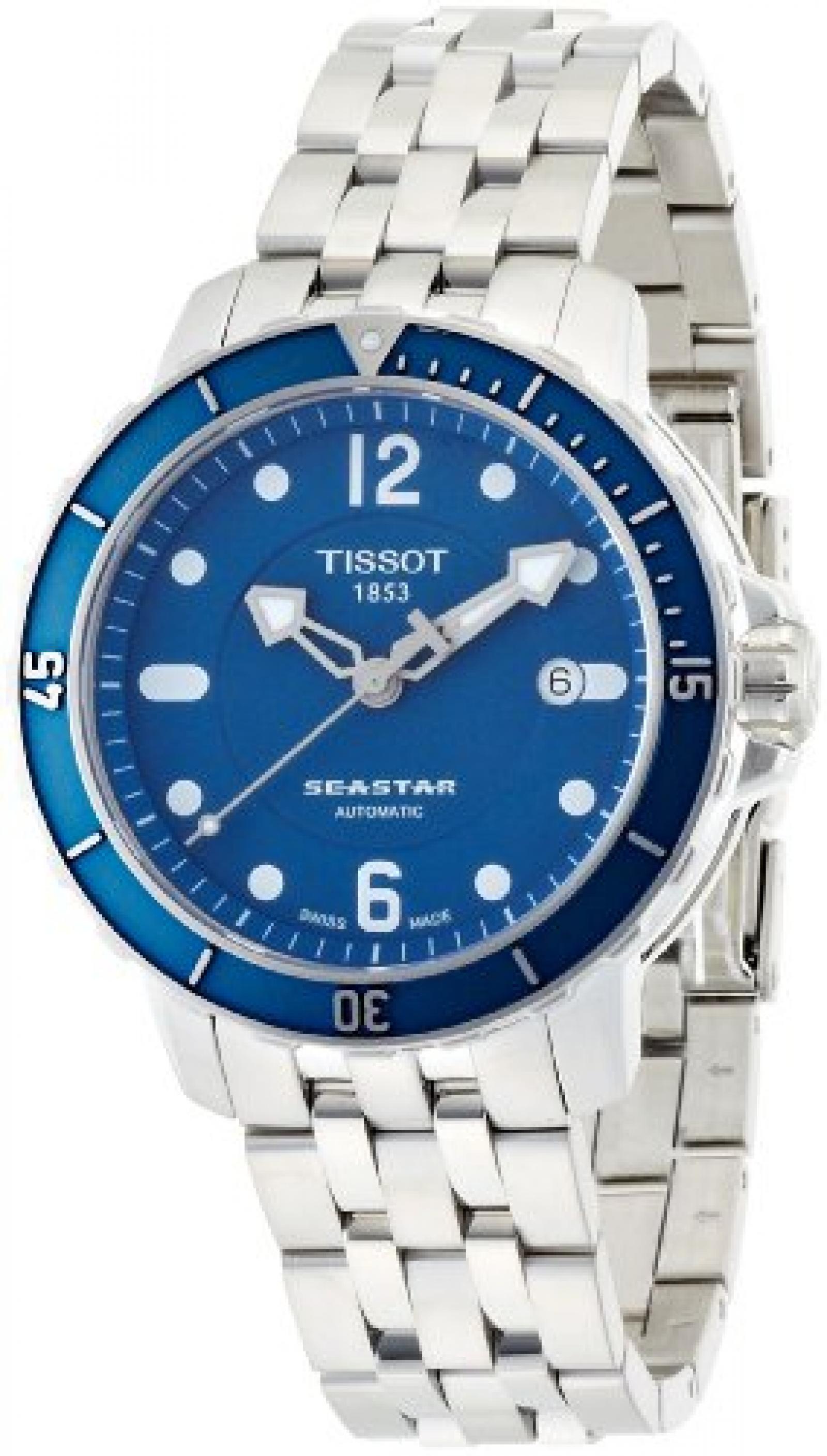 Tissot Herren-Armbanduhr Seastar 1000 Auto Edelstahl T0664071104700