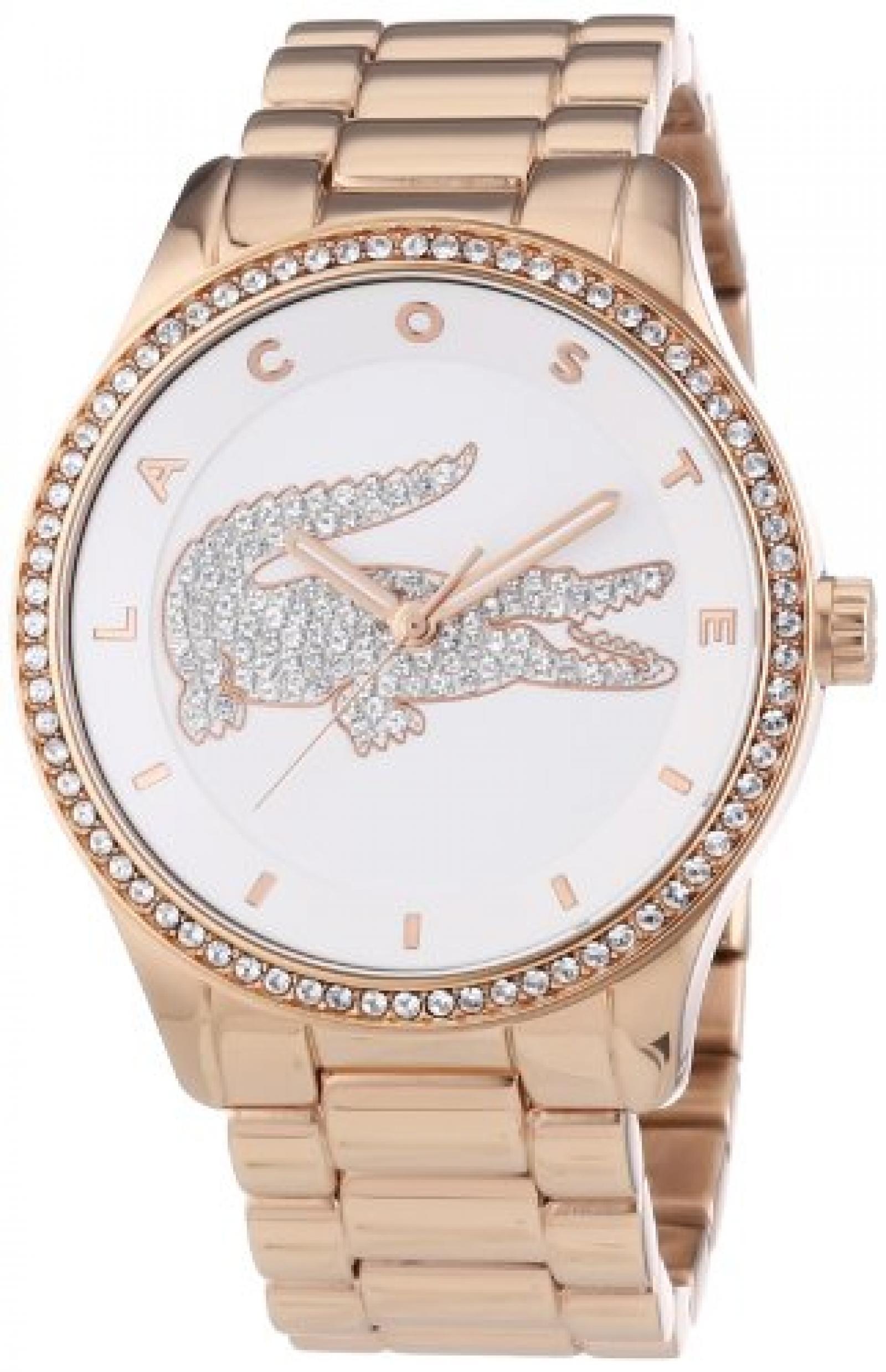 Lacoste Damen-Armbanduhr Analog Quarz Edelstahl beschichtet 2000828