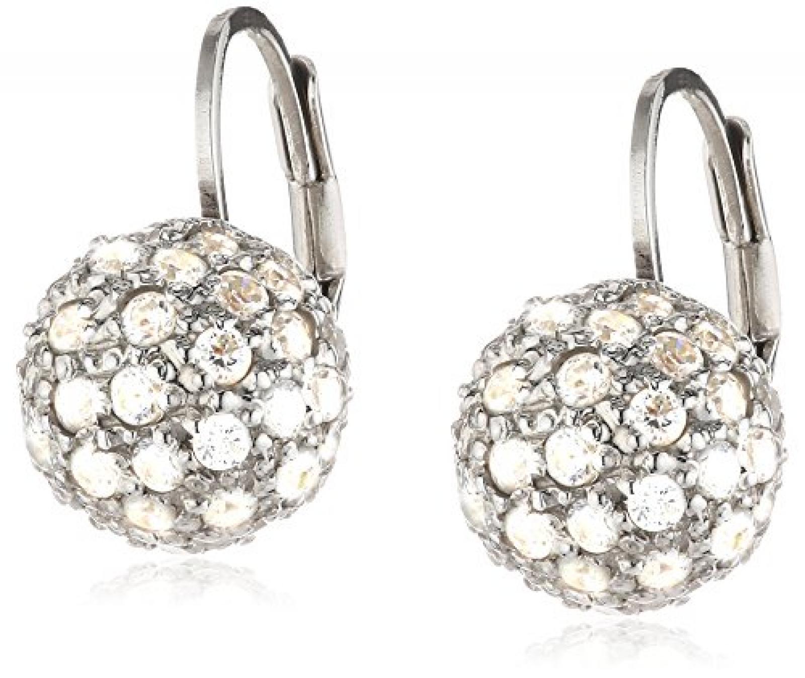 Celesta - Damenohrhänger Kugel aus 925er Sterling Silber und 90 weißen Zirkonias 273230086L