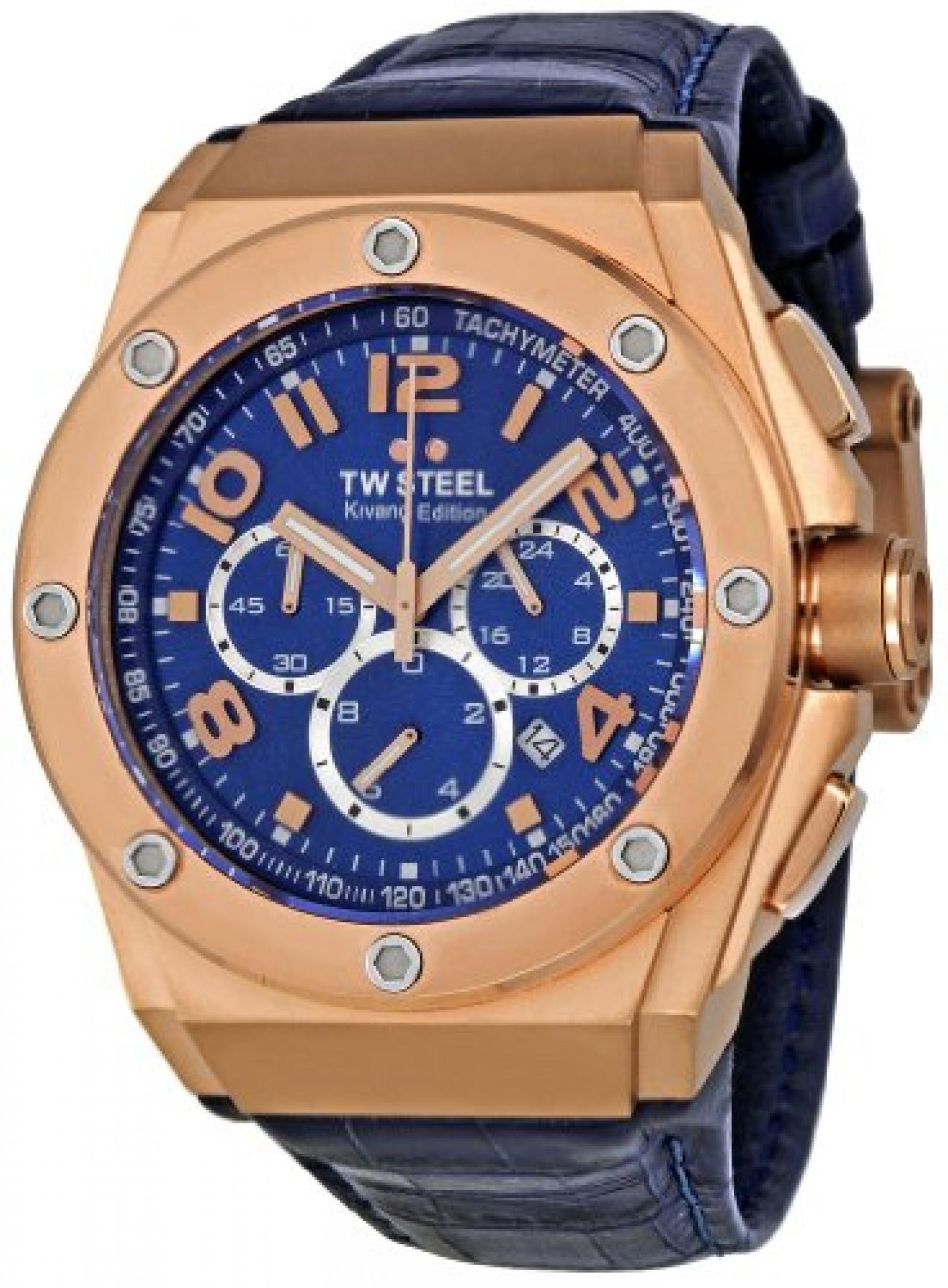TW Steel Sonder-Edition Unisex-Armbanduhr Ceo Tech Chronograph Leder TWCE4003
