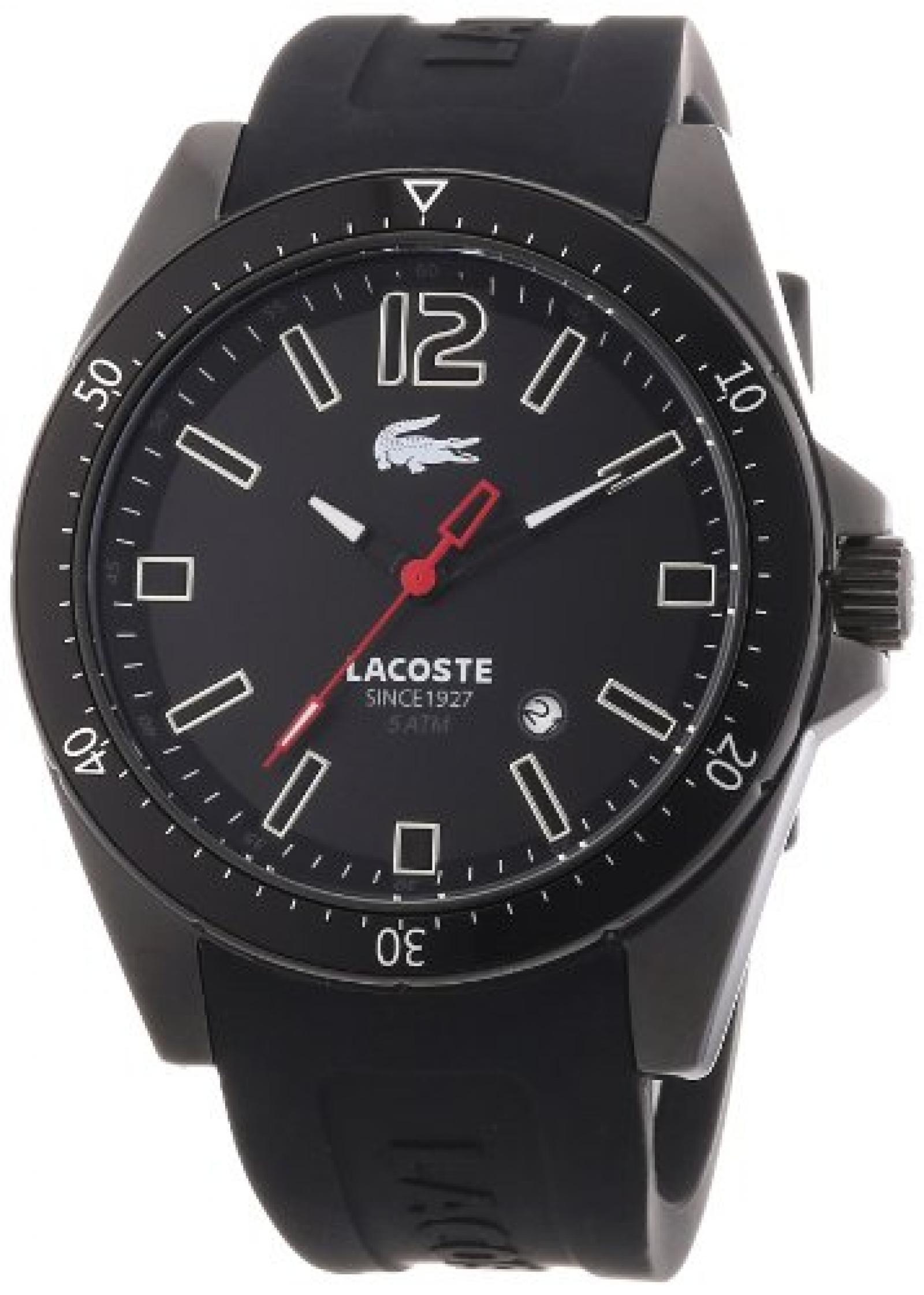 Lacoste Herren-Armbanduhr XL Analog Quarz Silikon 2010662