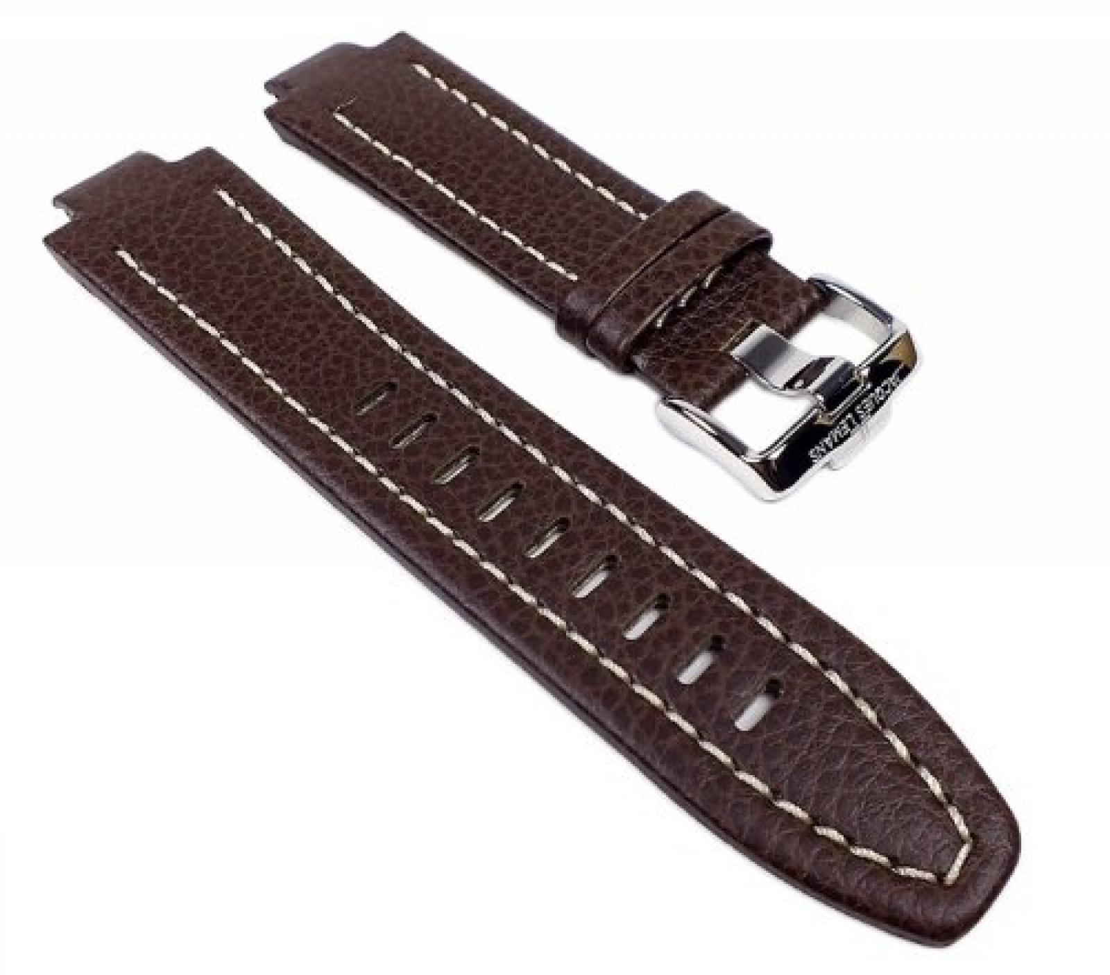 Jacques Lemans Power Chrono Ersatzband Uhrarmband Leder Braun 13mm für JL1-1485