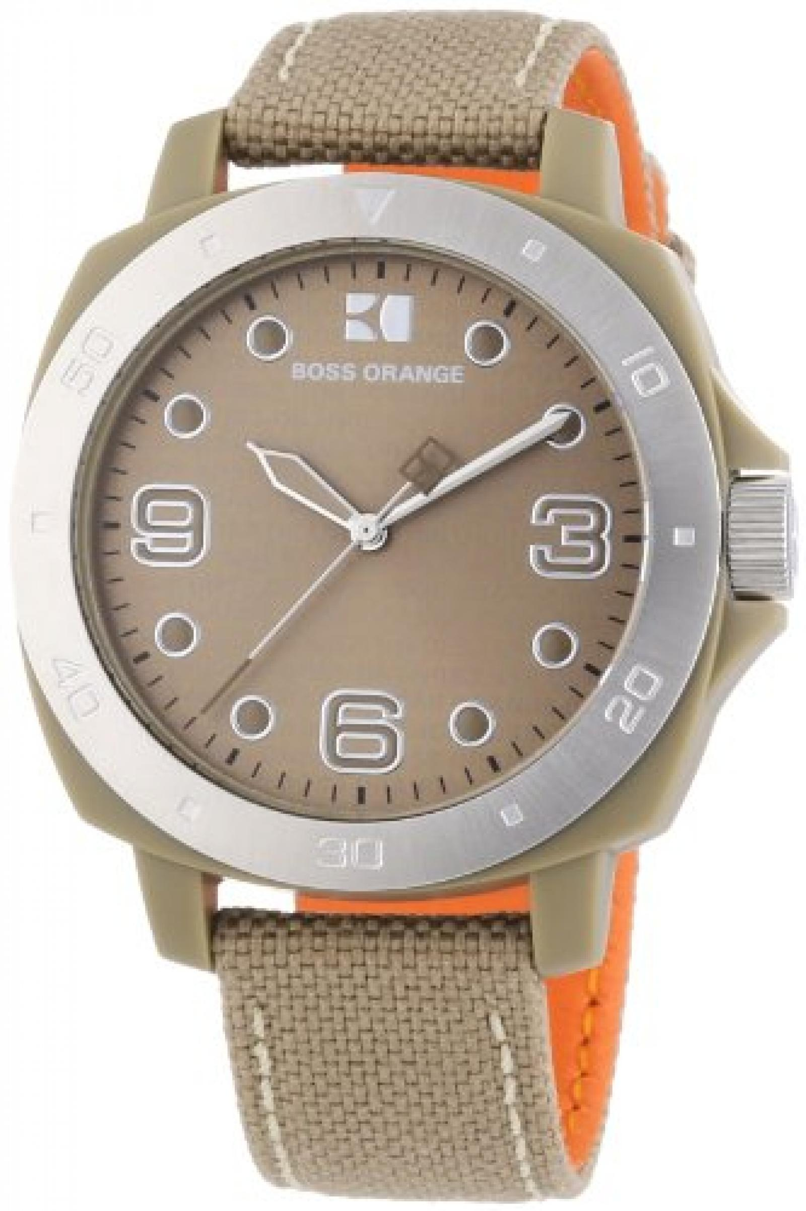 Hugo Boss Damen-Armbanduhr Orange Analog Quarz Nylon 1502288