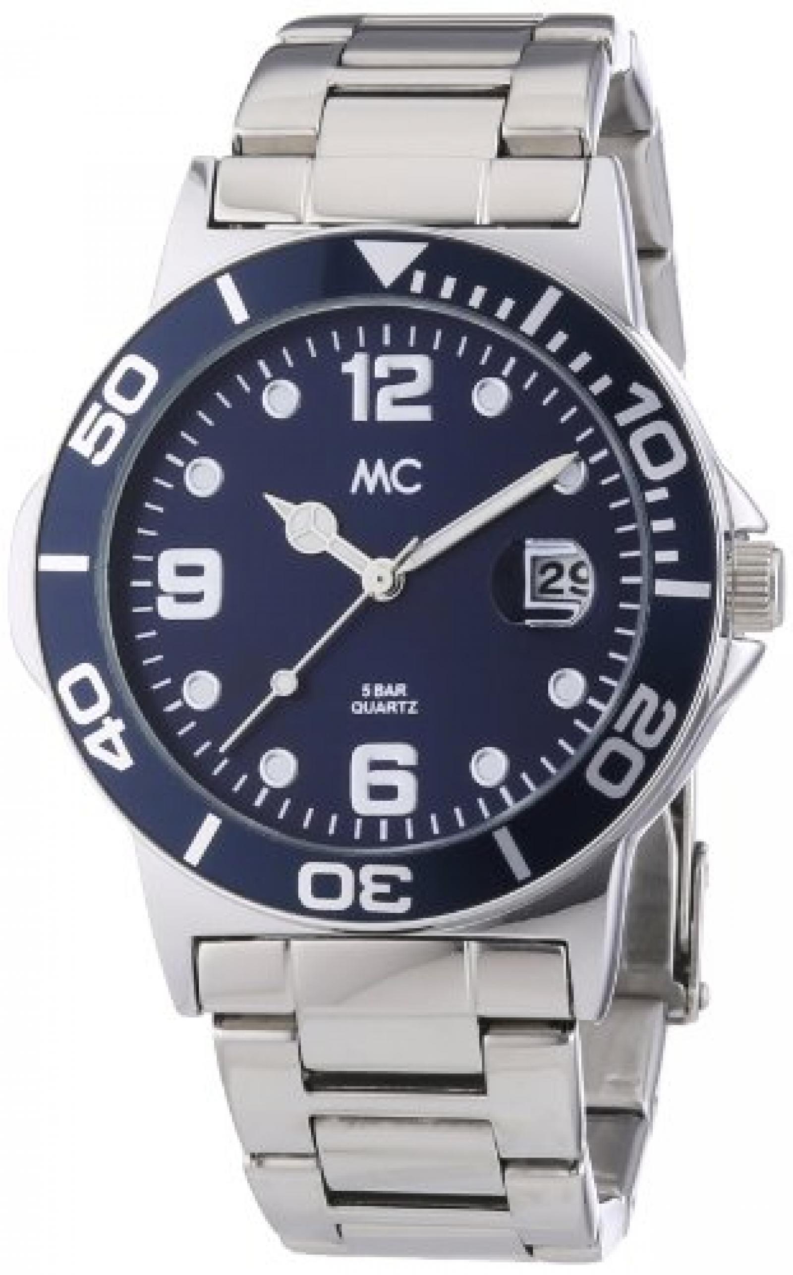 MC Timetrend Herren-Armbanduhr Analog Quarz Metallband 27464
