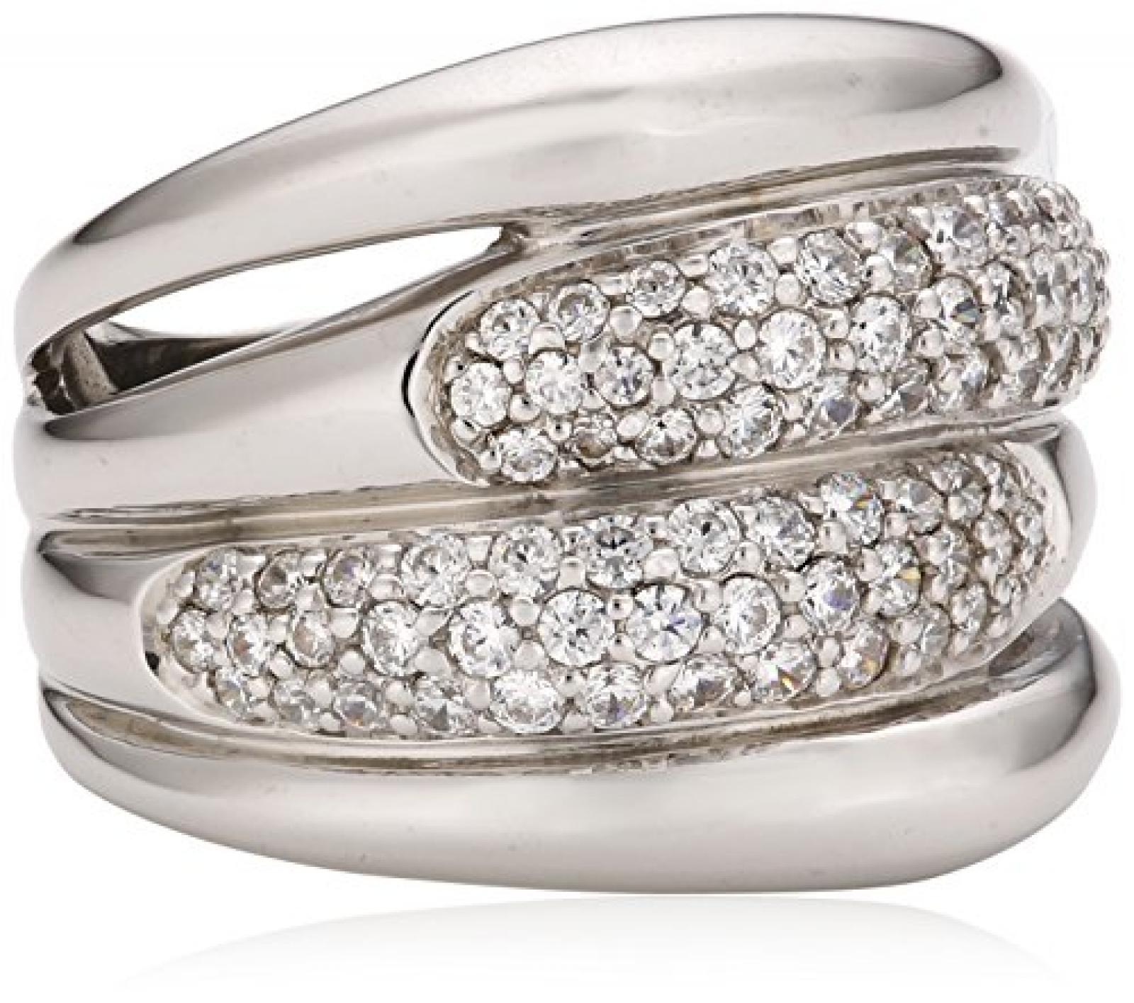 Celesta - Damenring aus 925er Sterling Silber mit 81 weißen Zirkonias W.:54 368270007L-054