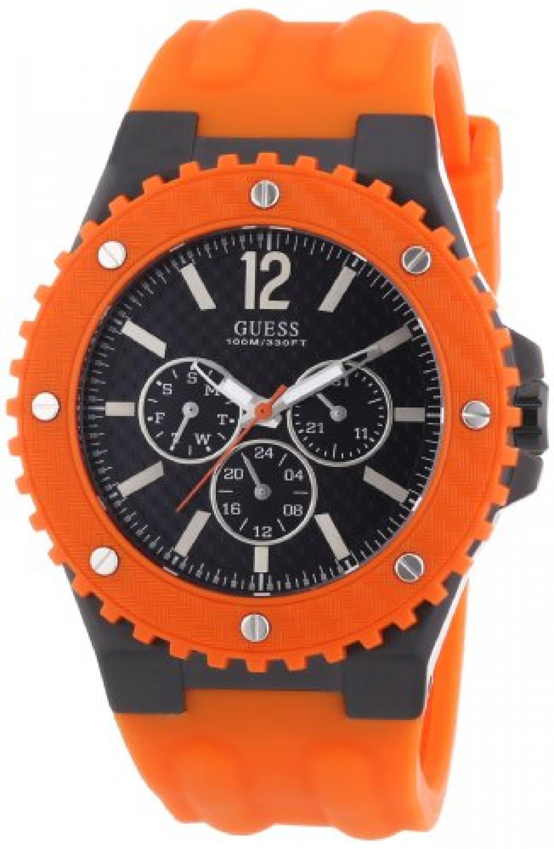 Guess Herren-Armbanduhr XL OVERDRIVE Analog Quarz Kautschuk W11619G4