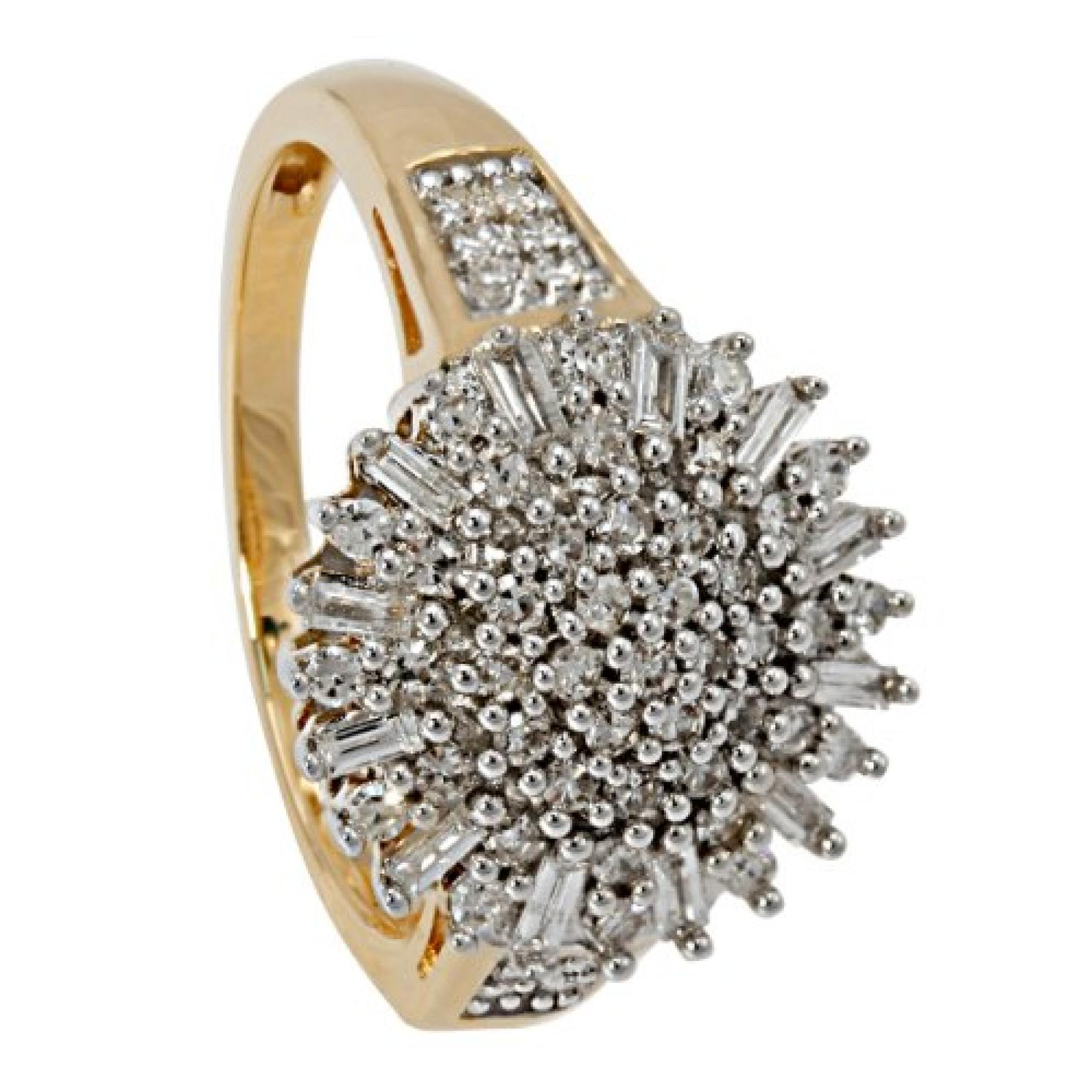 Bella Donna Damen-Ring 585 Gelbgold 67 Diamanten