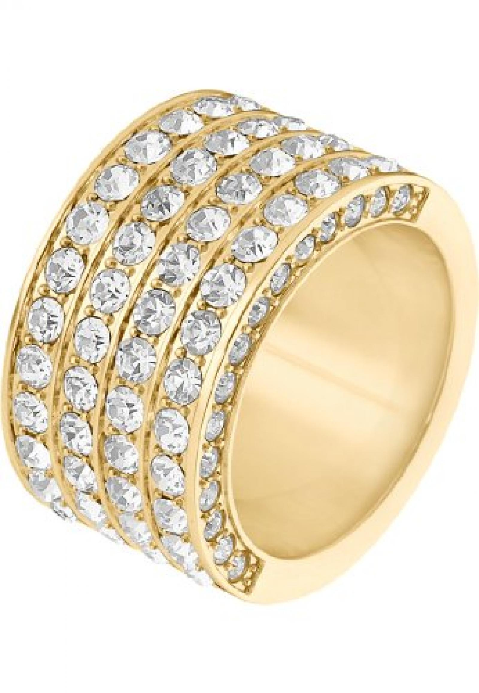 JETTE Magic Passion Damen-Ring Basic Metall 82 Kristall (gold)