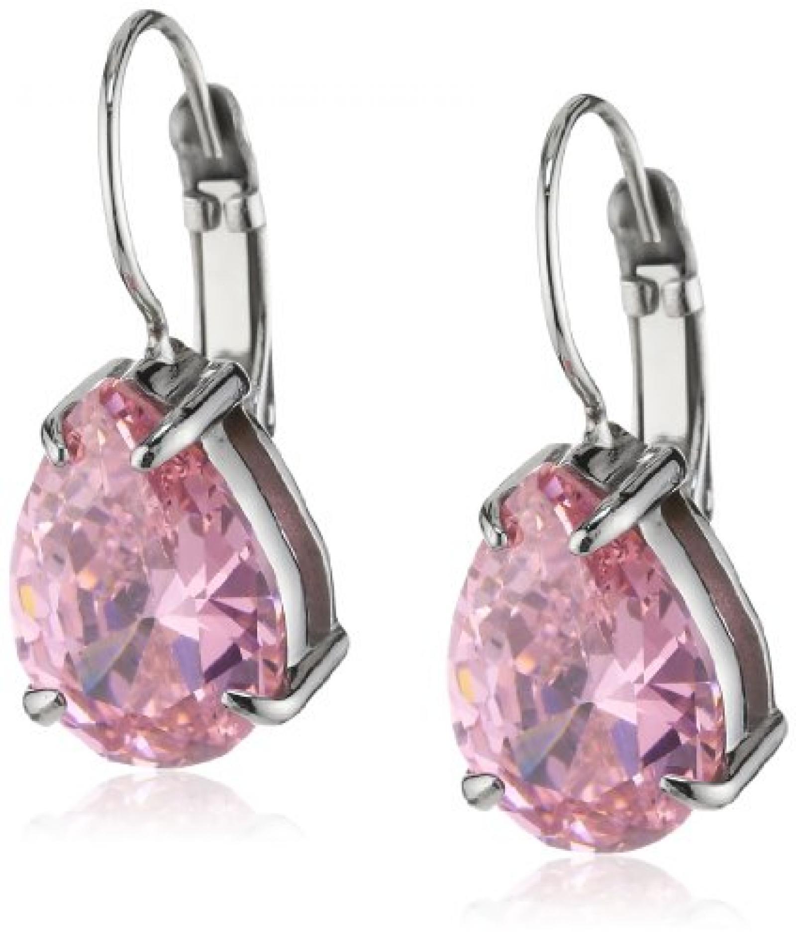 Dyrberg/Kern Damen-Ohrhänger Edelstahl Kristall pink 335330