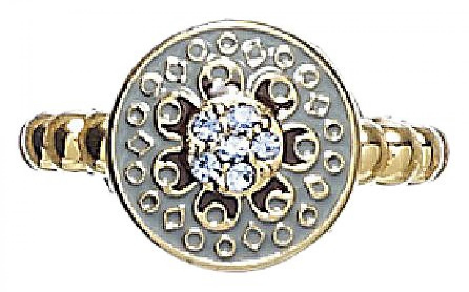 Pilgrim Damen-Ring vergoldet blau 603-204 größenverstellbar