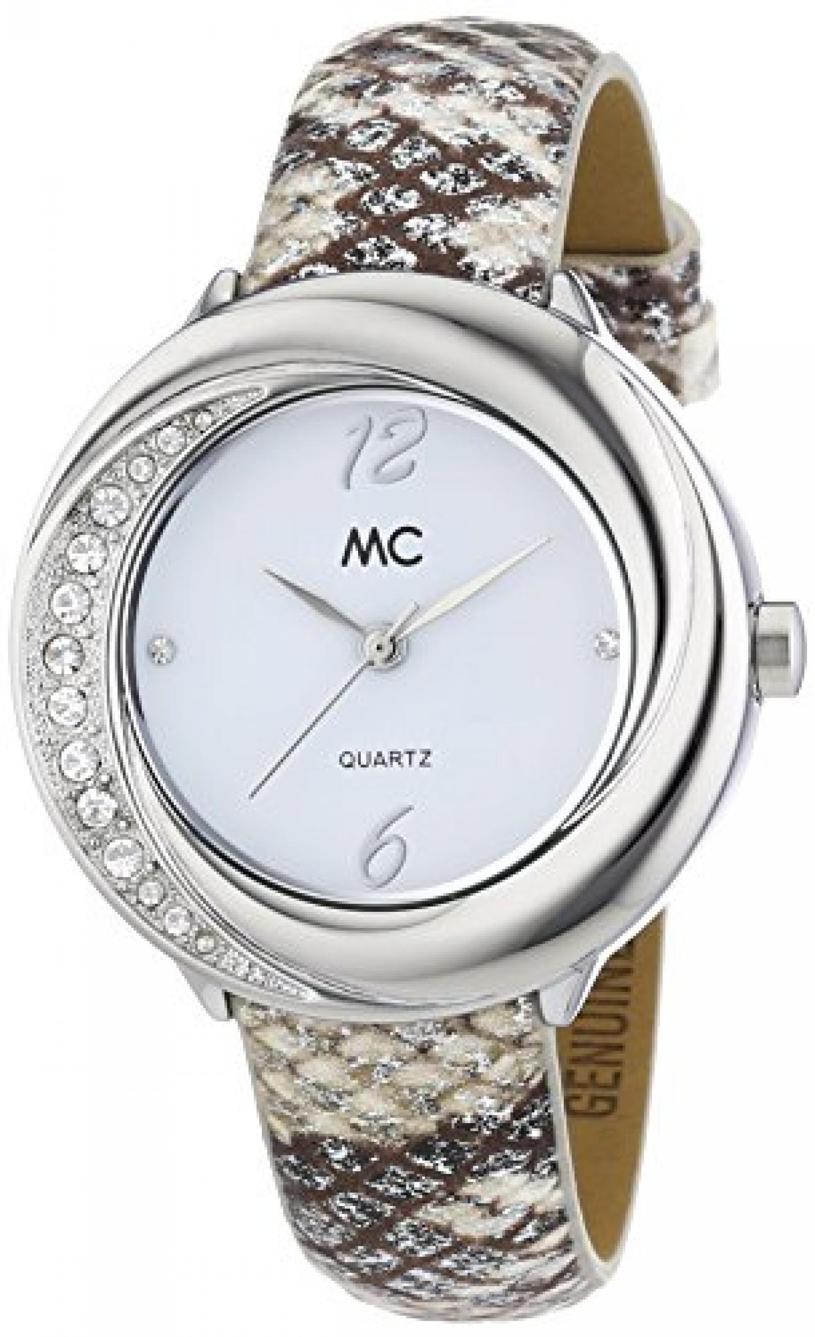 MC Timetrend Damen-Armbanduhr Analog Quarz Leder 51363