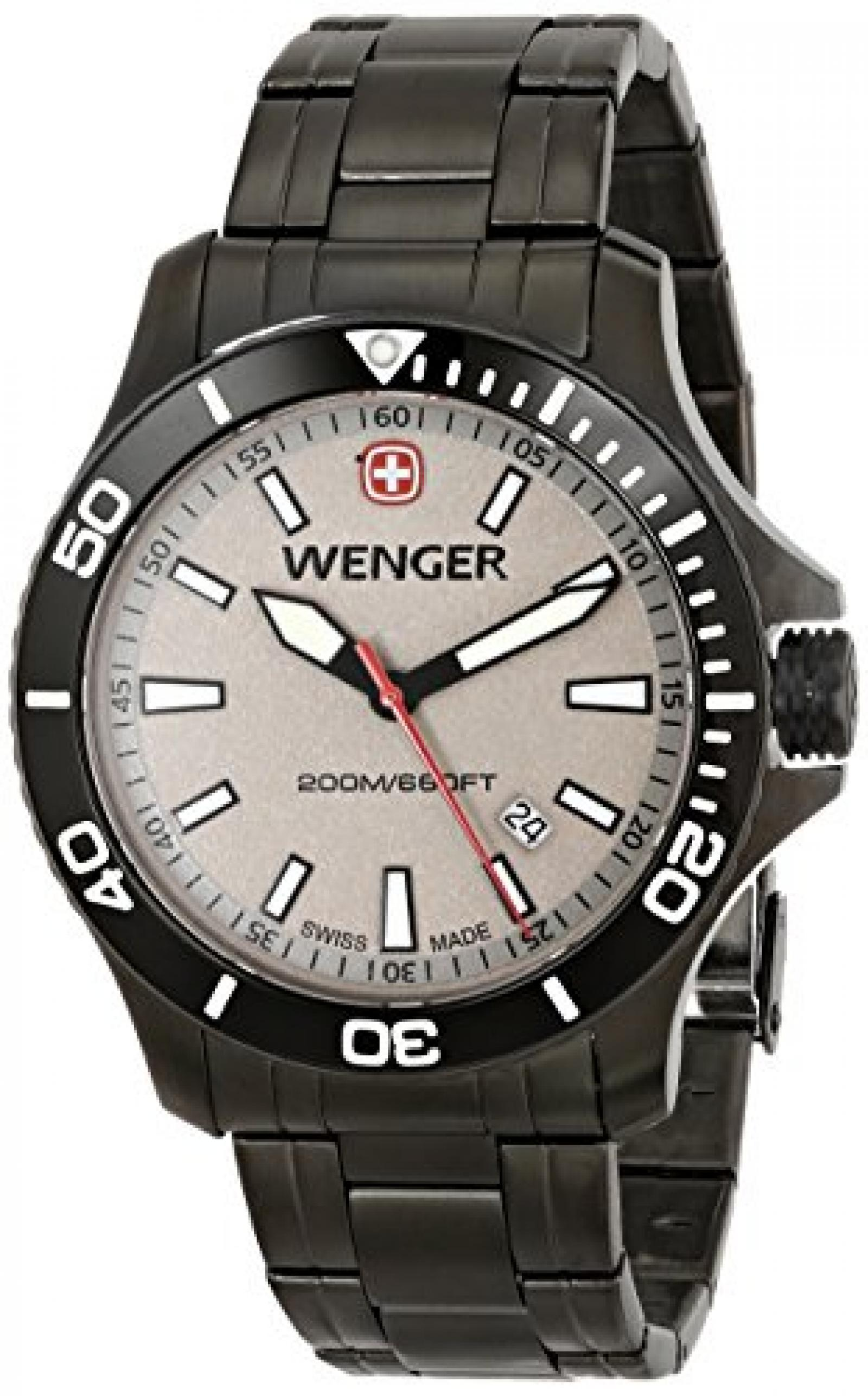 Wenger Herren 0641.107 Sea Force 3H Analog Display Swiss Quartz Grey Armbanduhr