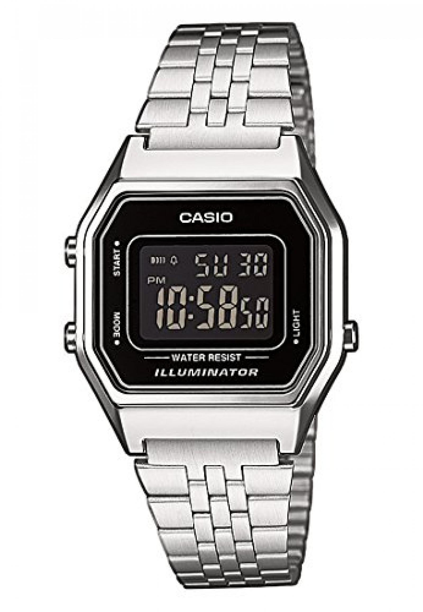 Casio Damen-Armbanduhr CASIO COLLECTION RETRO Analog Quarz (One Size, schwarz)