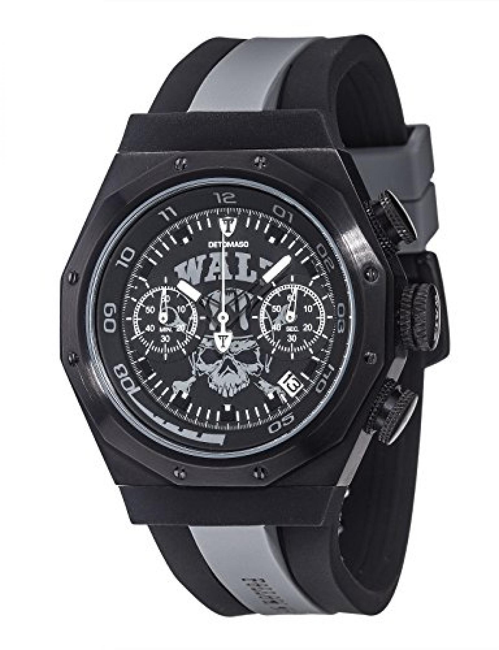 Detomaso Herren-Armbanduhr WALZ Edition ADRENALINE Grey Trend Chronograph Quarz Silikon DT-W1003-D