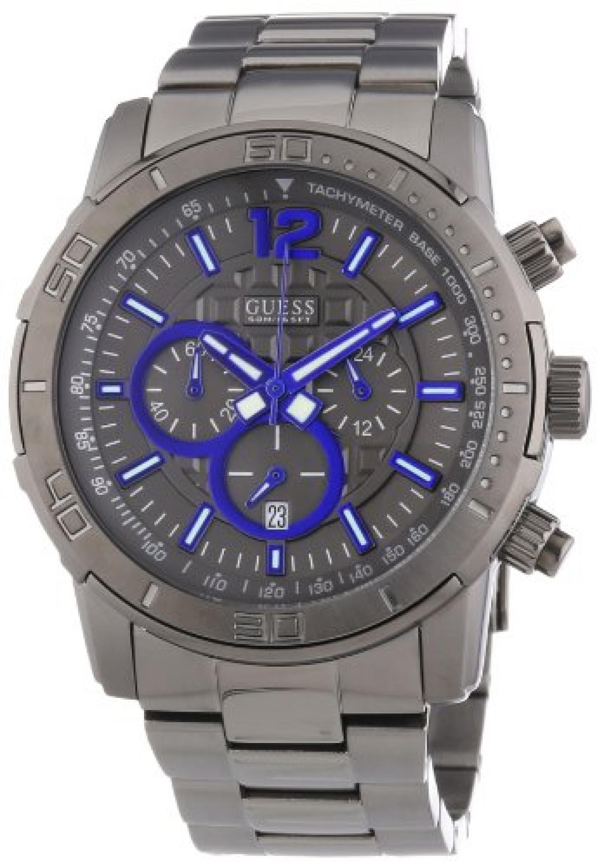Guess Herren-Armbanduhr XL BRICKHOUSE Analog Quarz Edelstahl W22521G1