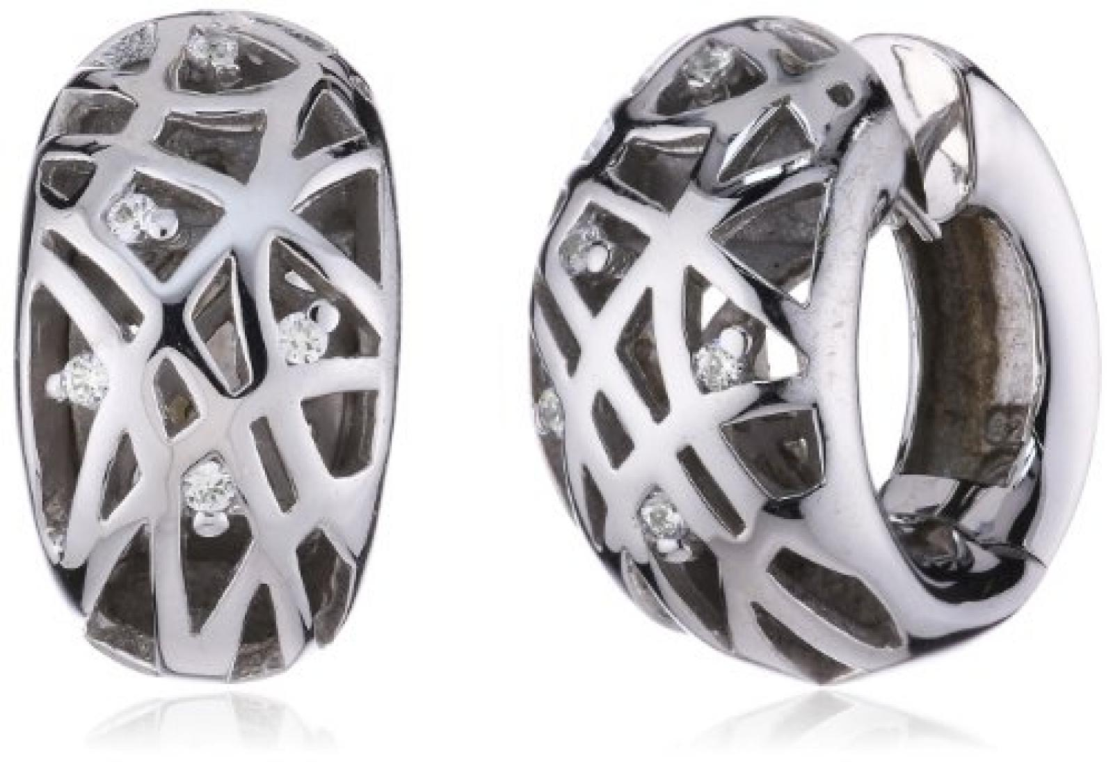 Viventy Damen-Creolen 925 Sterling Silber mit Zirkonia 695644