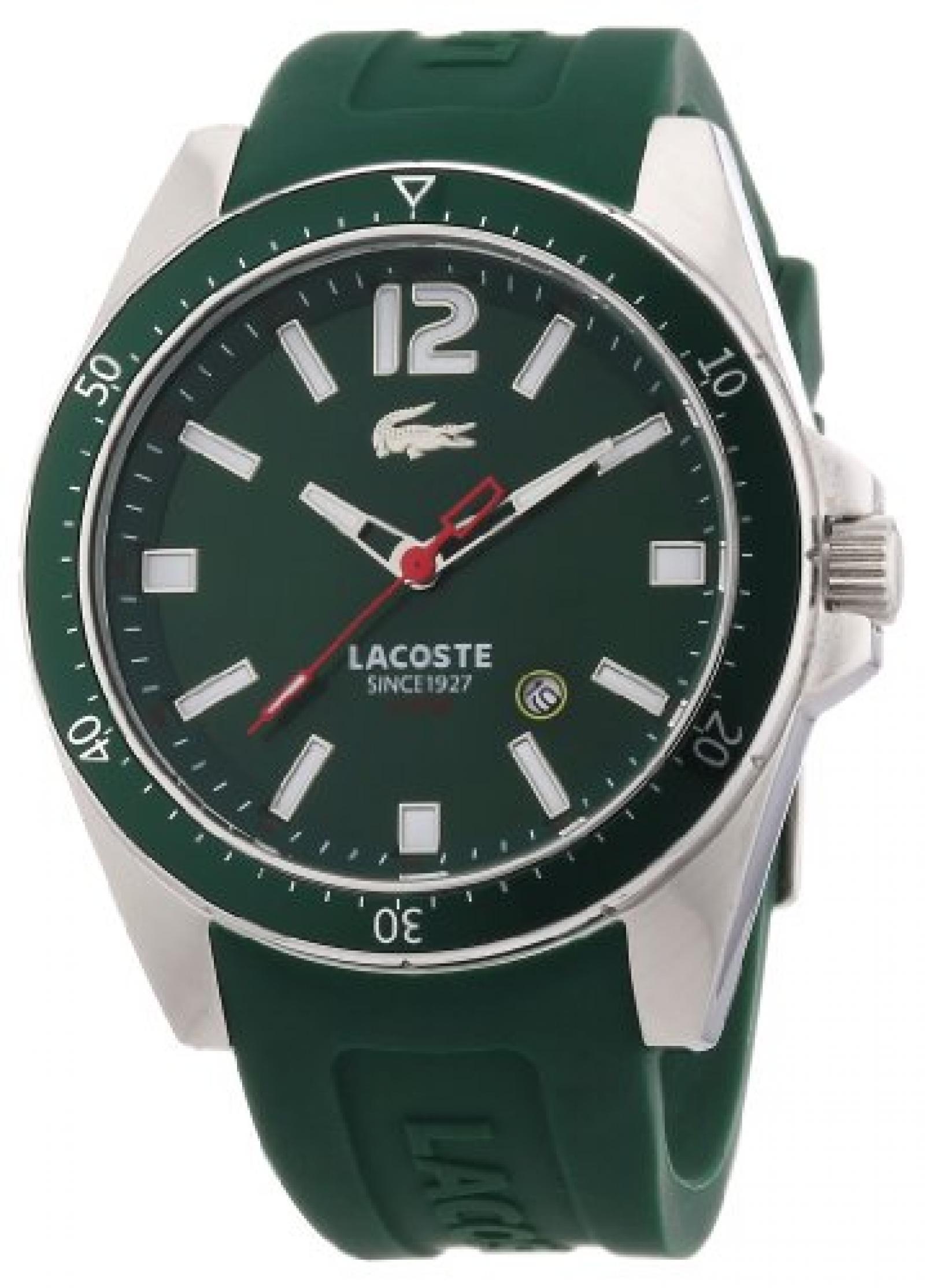 Lacoste Herren-Armbanduhr XL Analog Quarz Silikon 2010663