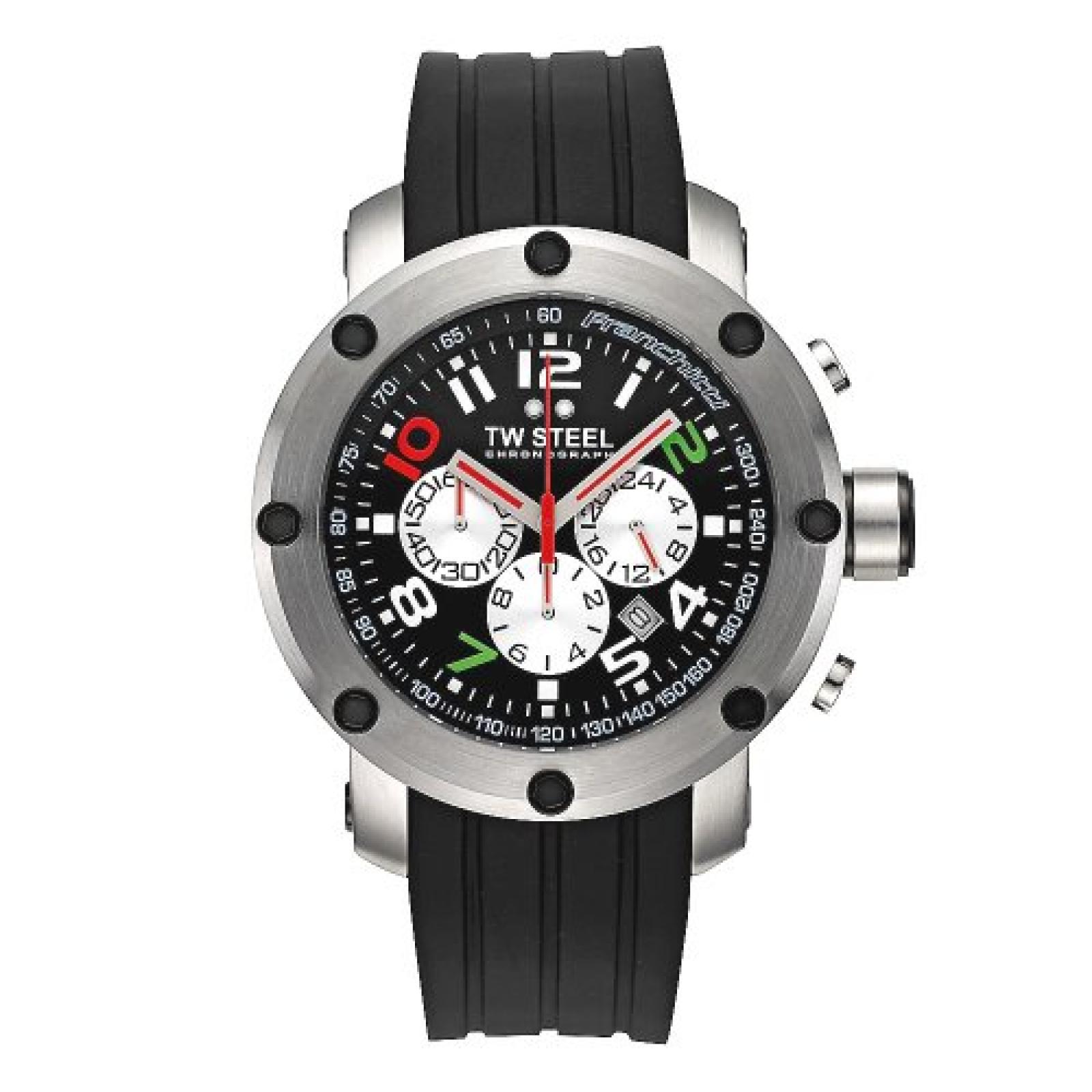 TW Steel Sonder-Edition Herren-Armbanduhr XL Grandeur Tech Chronograph Silikon TW-608