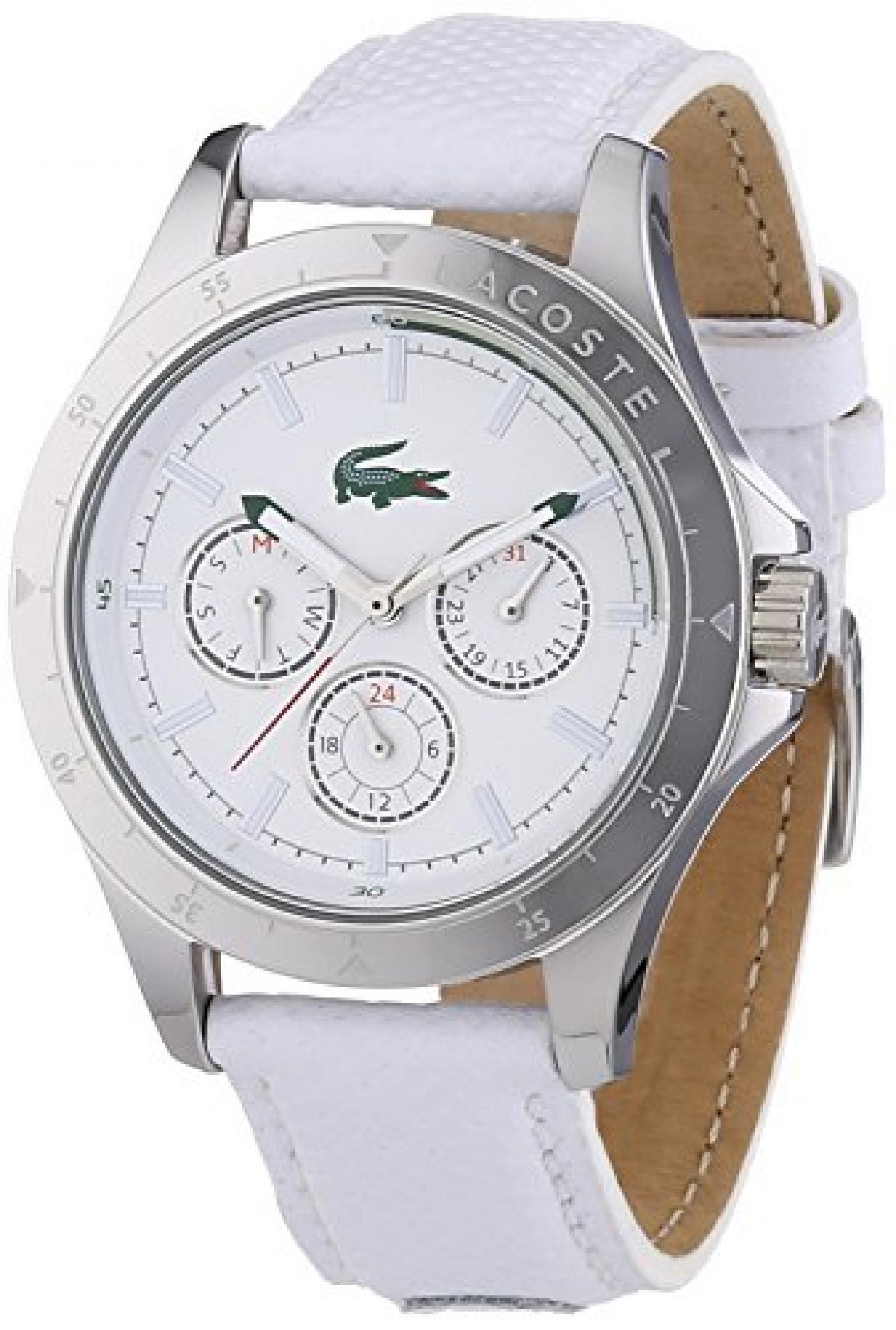 Lacoste Damen-Armbanduhr MACKAY Analog Quarz Leder 2000846