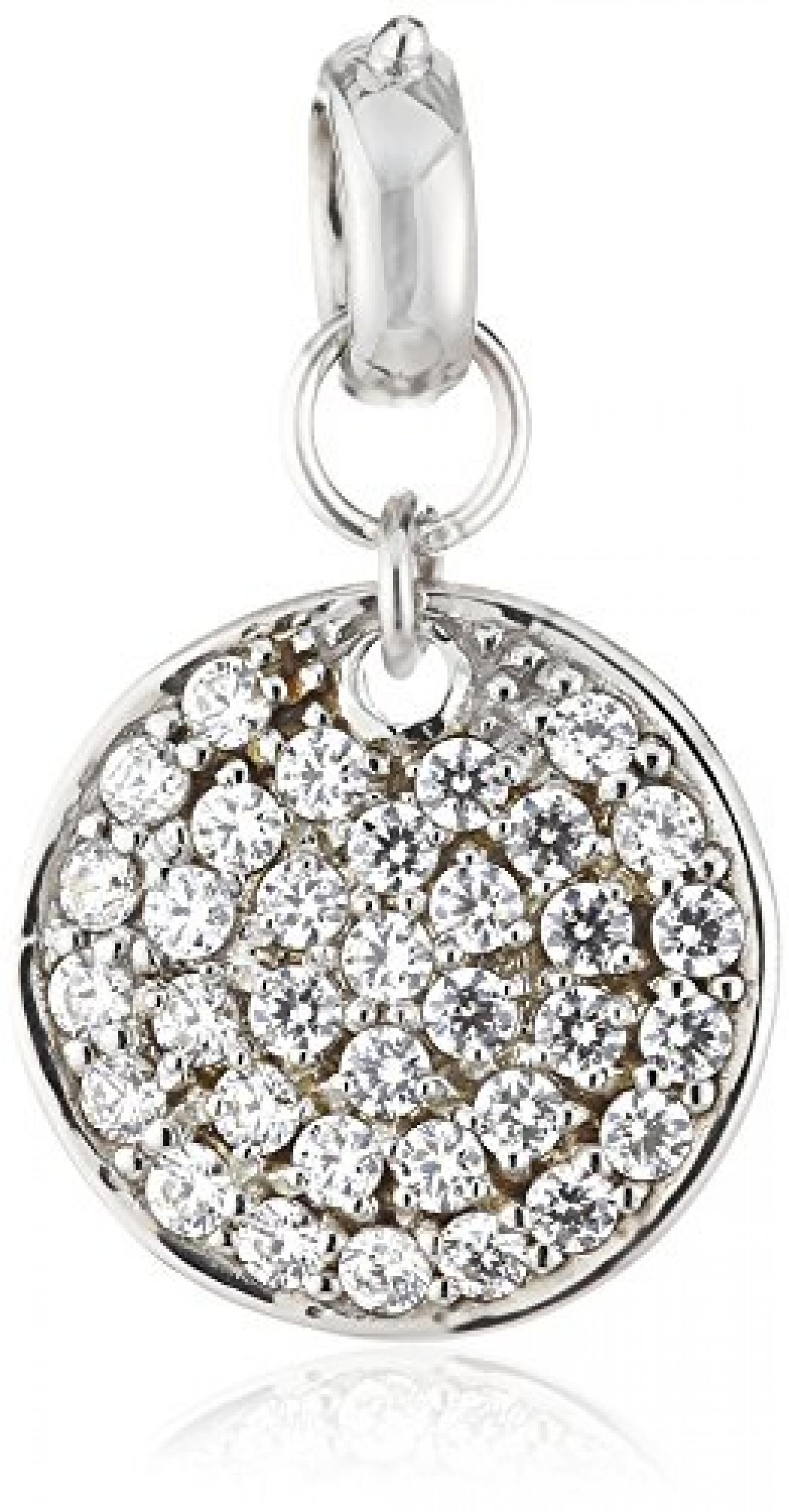 Celesta Damen-Charmsanhänger 925 Sterling Silber Zirkonia weiß 273240734L-1