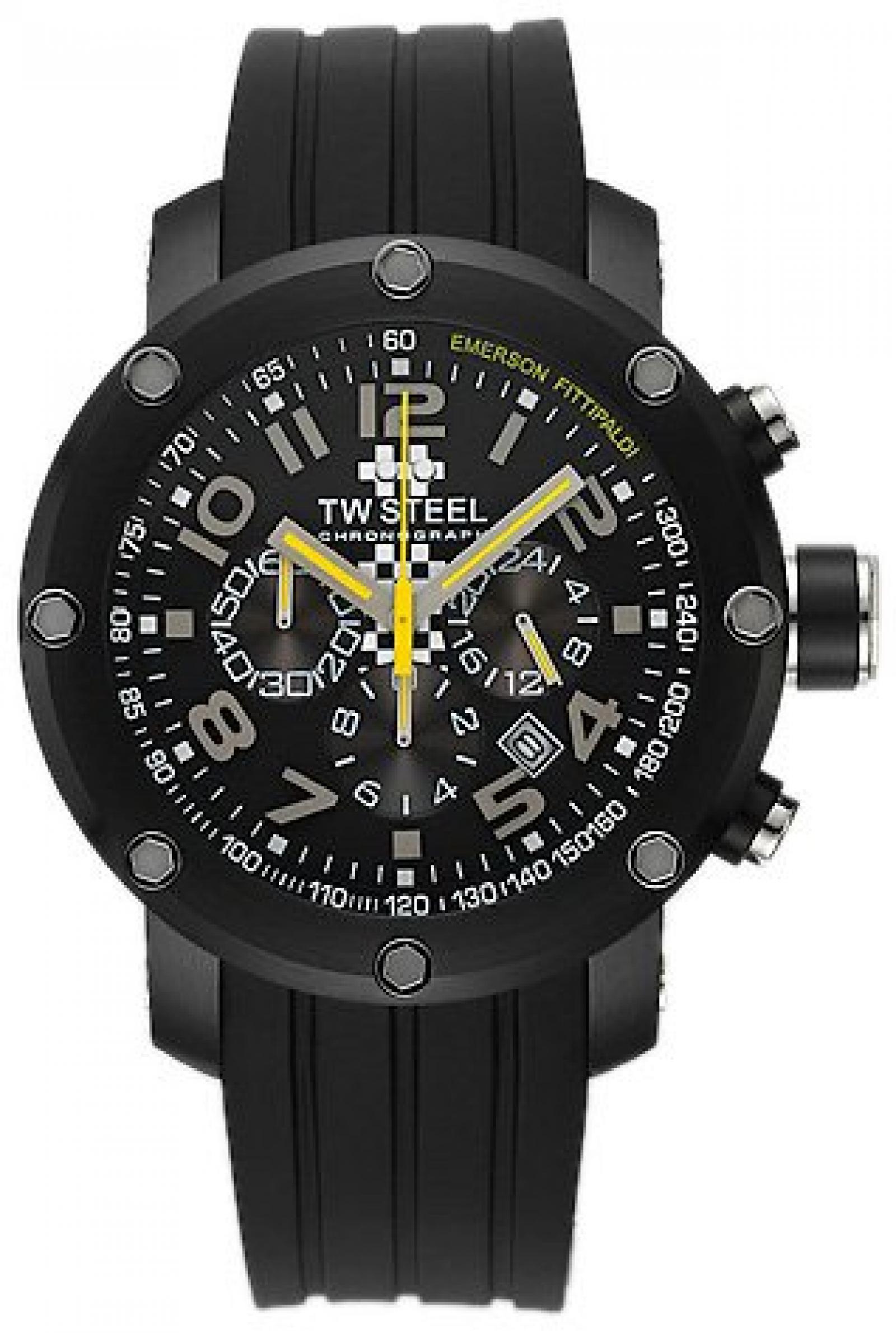 TW Steel Sonder-Edition Unisex-Armbanduhr Grandeur Tech Chronograph Silikon TW-609