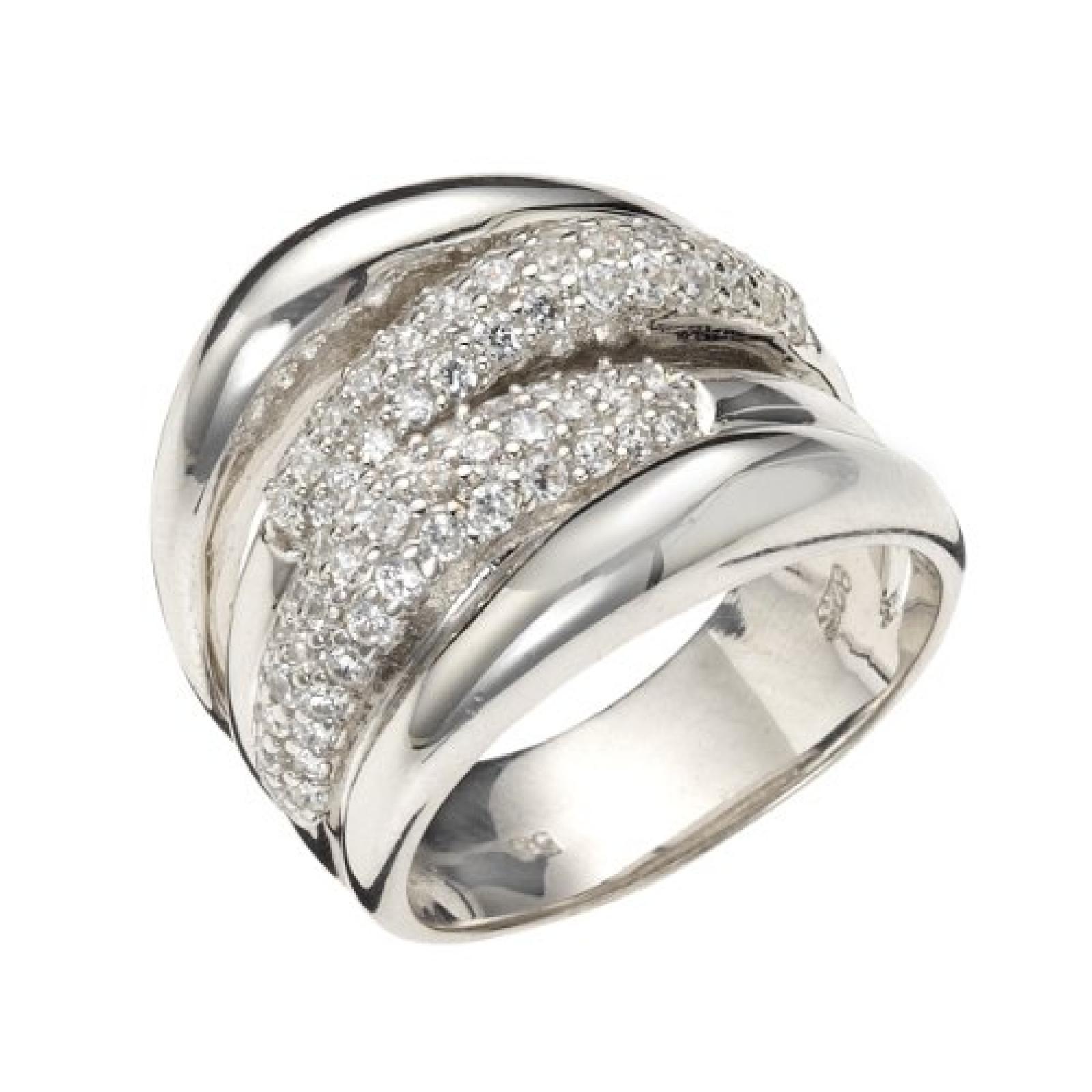 Celesta - Damenring aus 925er Sterling Silber mit 81 weißen Zirkonias W.:60 368270007L-060