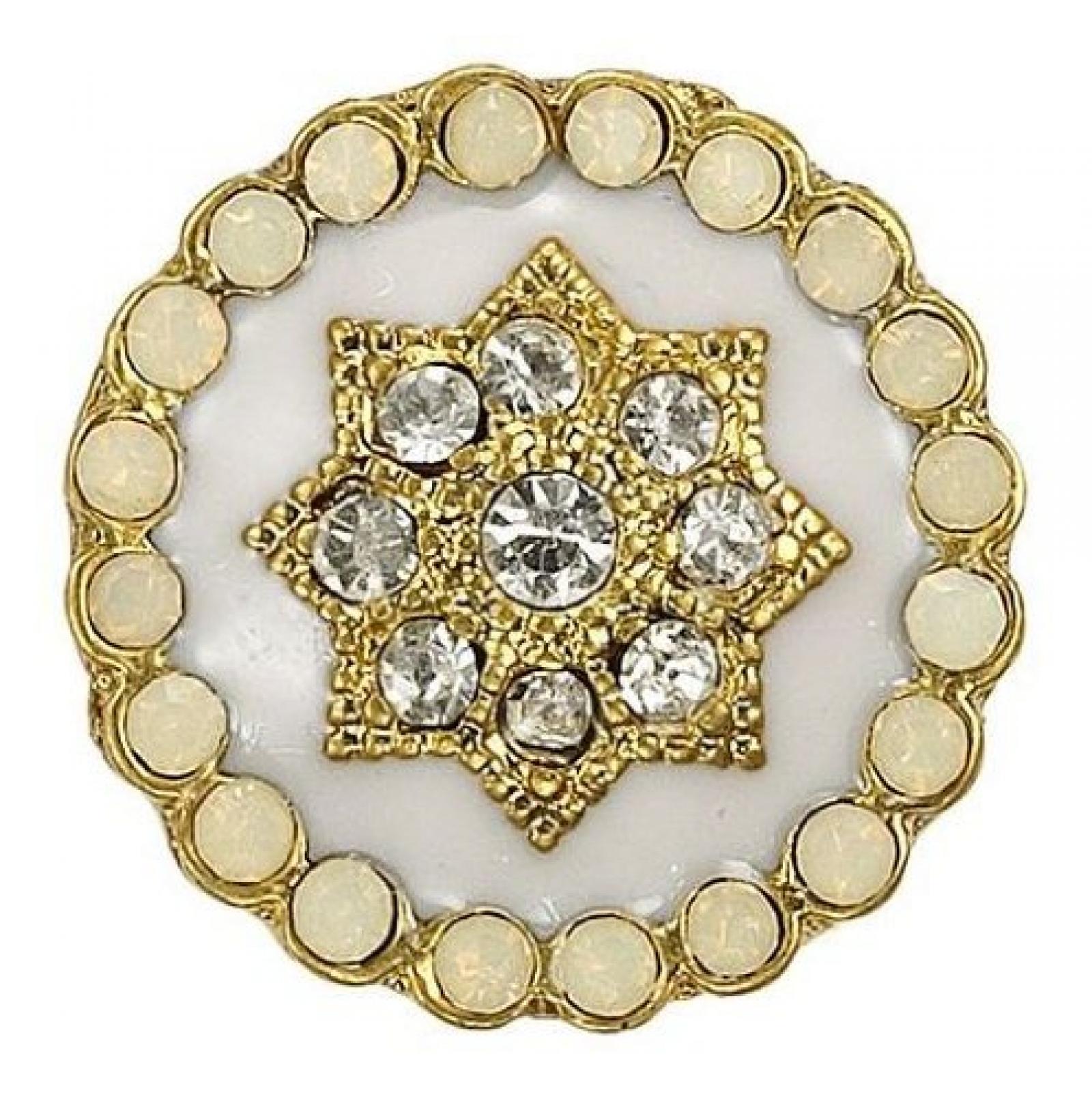 Pilgrim Damen-Anhänger aus der Serie Charming Vergoldet offwhite 42122-2013