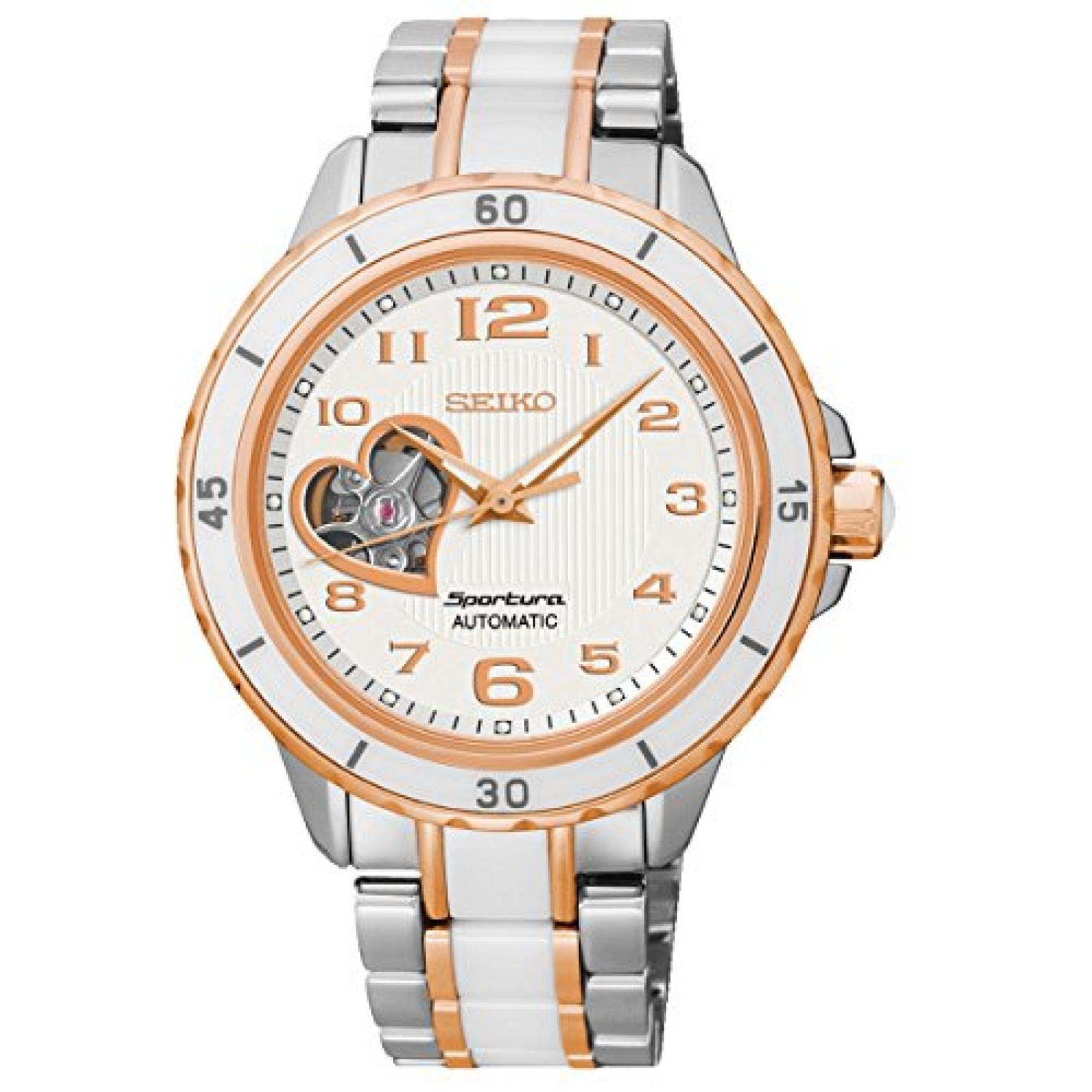 Seiko Damen-Armbanduhr Analog Automatik Edelstahl beschichtet SSA884J1