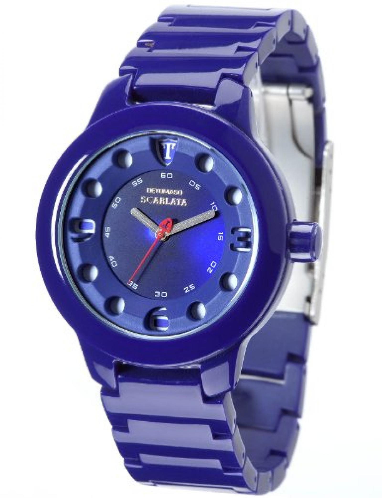 Detomaso Damen-Armbanduhr SCARLATA Violet Ladies Analog Quarz Plastik DT3018-F