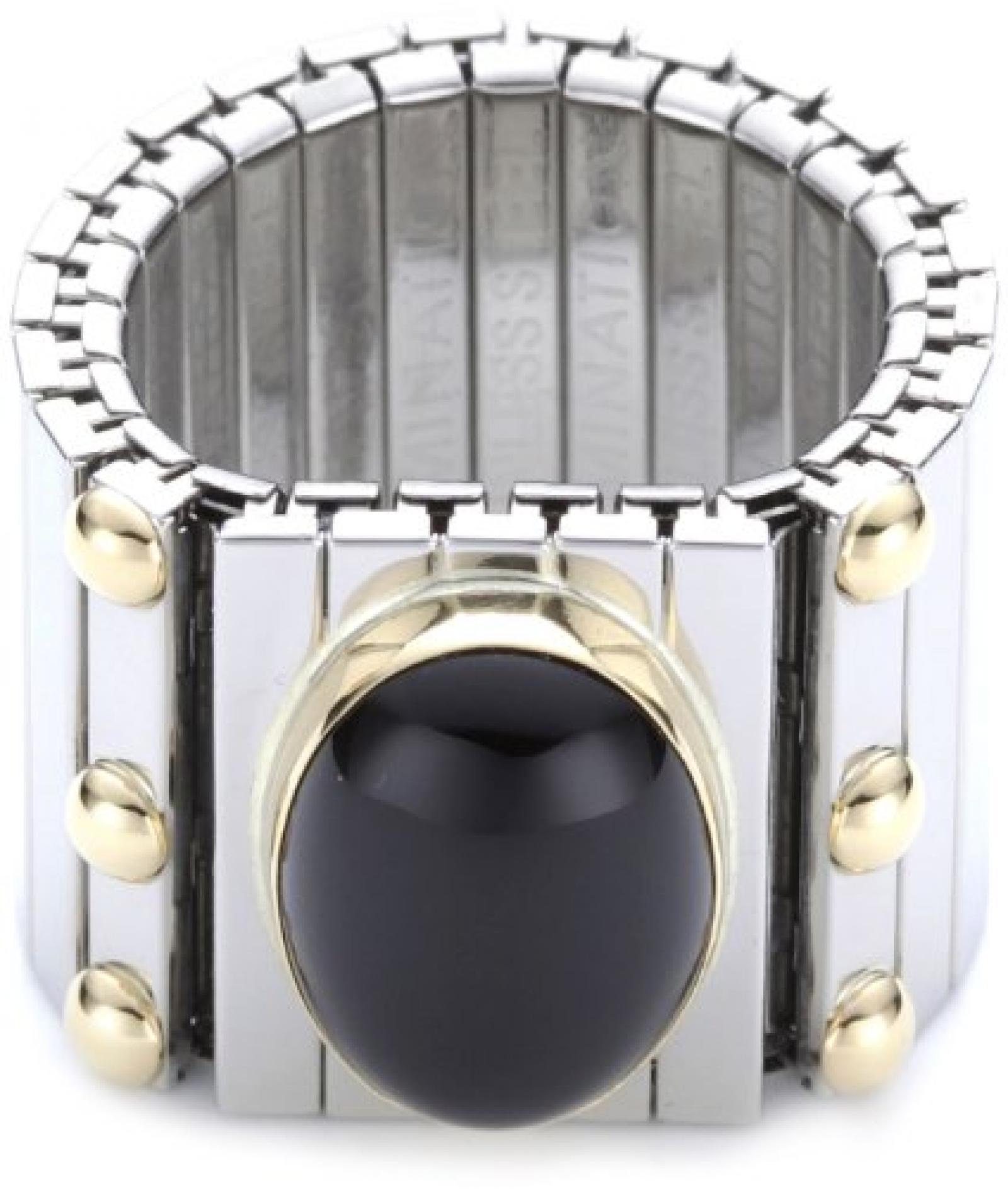 Nomination Damen-Ring Groß Sowie Ein in Ex 202 Achat Schwarz Ring größe variabel 041546/002