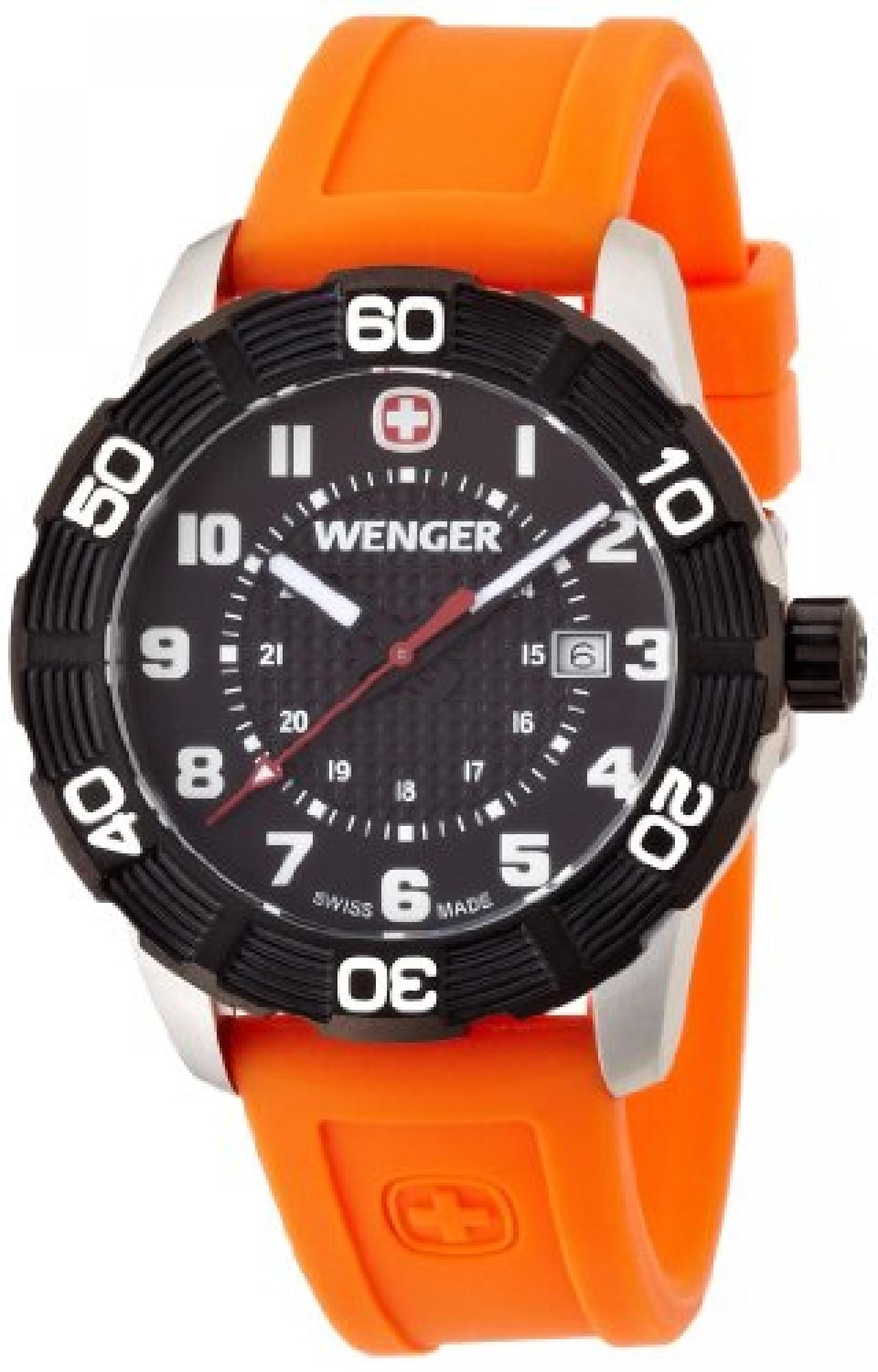 Wenger Herren-Armbanduhr XL Roadster Analog Quarz Silikon 01.0851.106