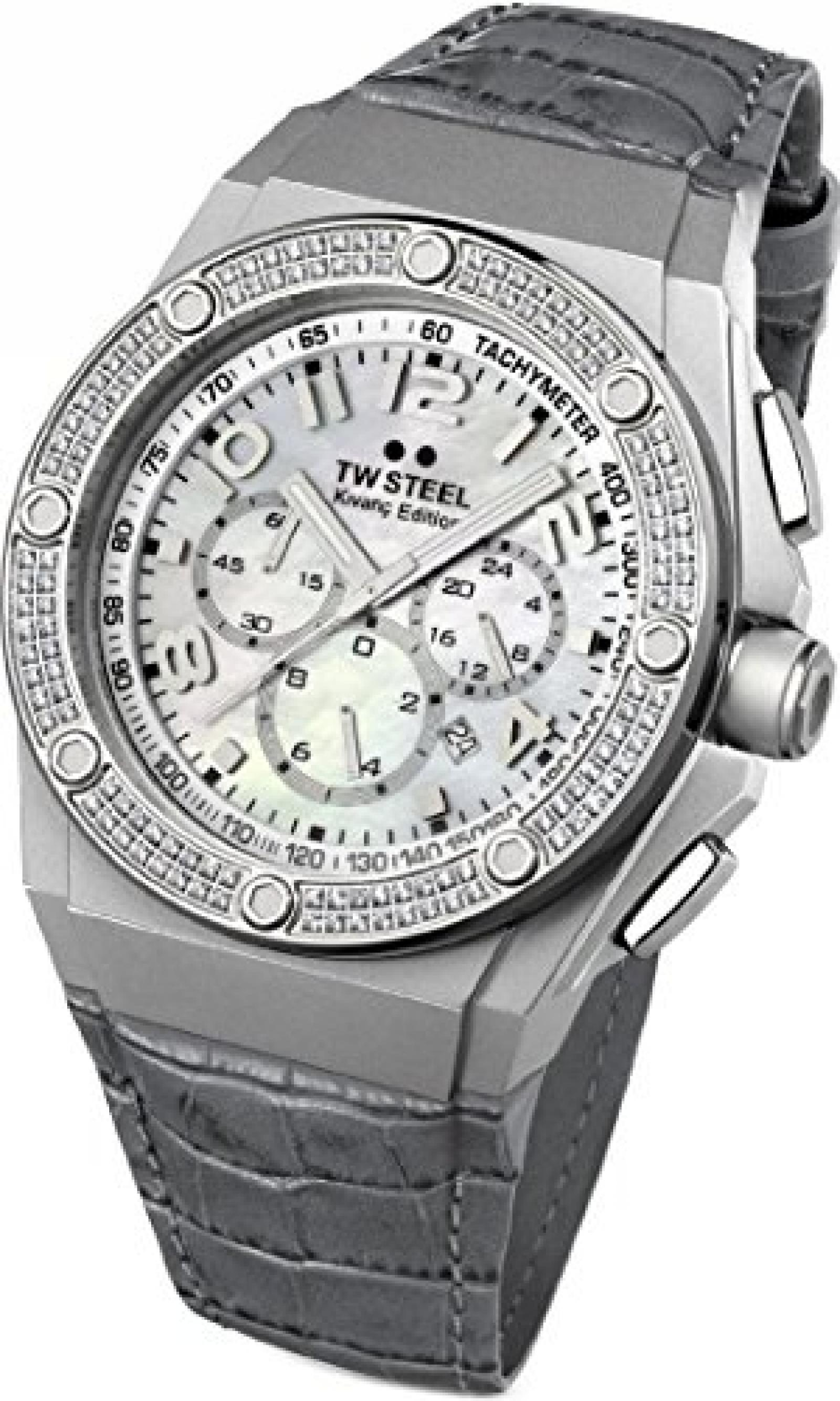 TW Steel CEO Tech Chrono TWCE4005 Damenchronograph mit echten Diamanten