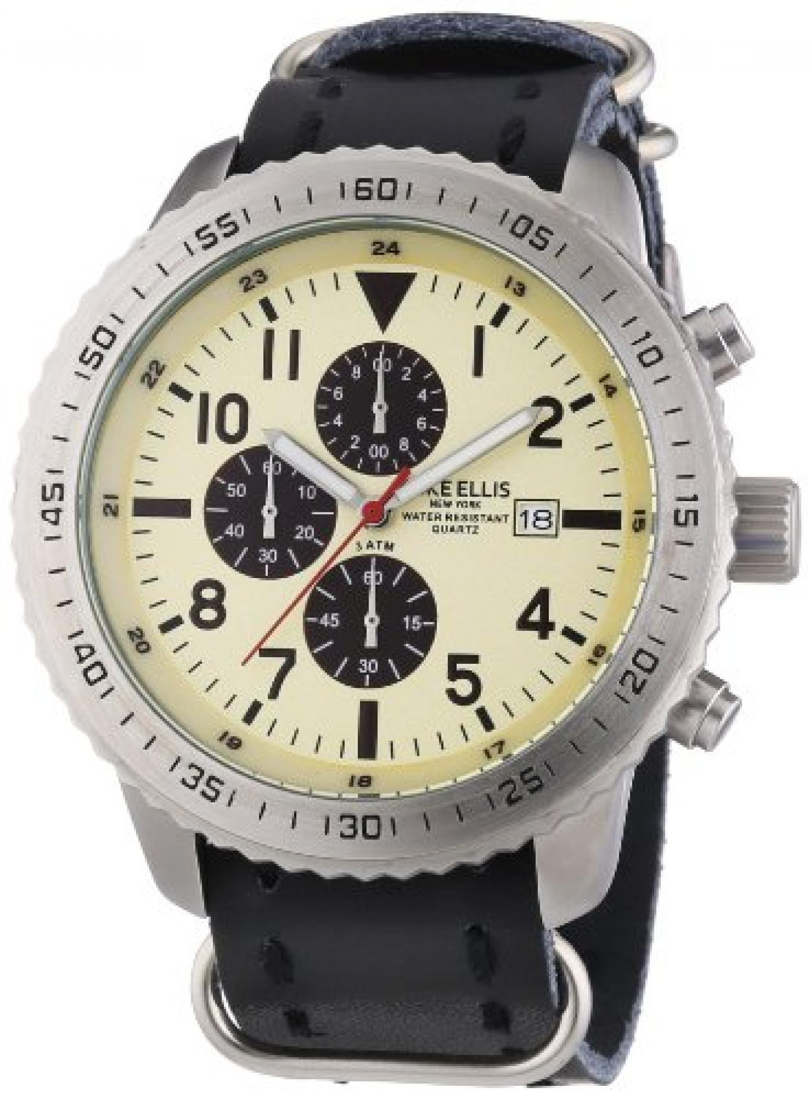 Mike Ellis New York Herren-Armbanduhr XL Chronograph Quarz 17986