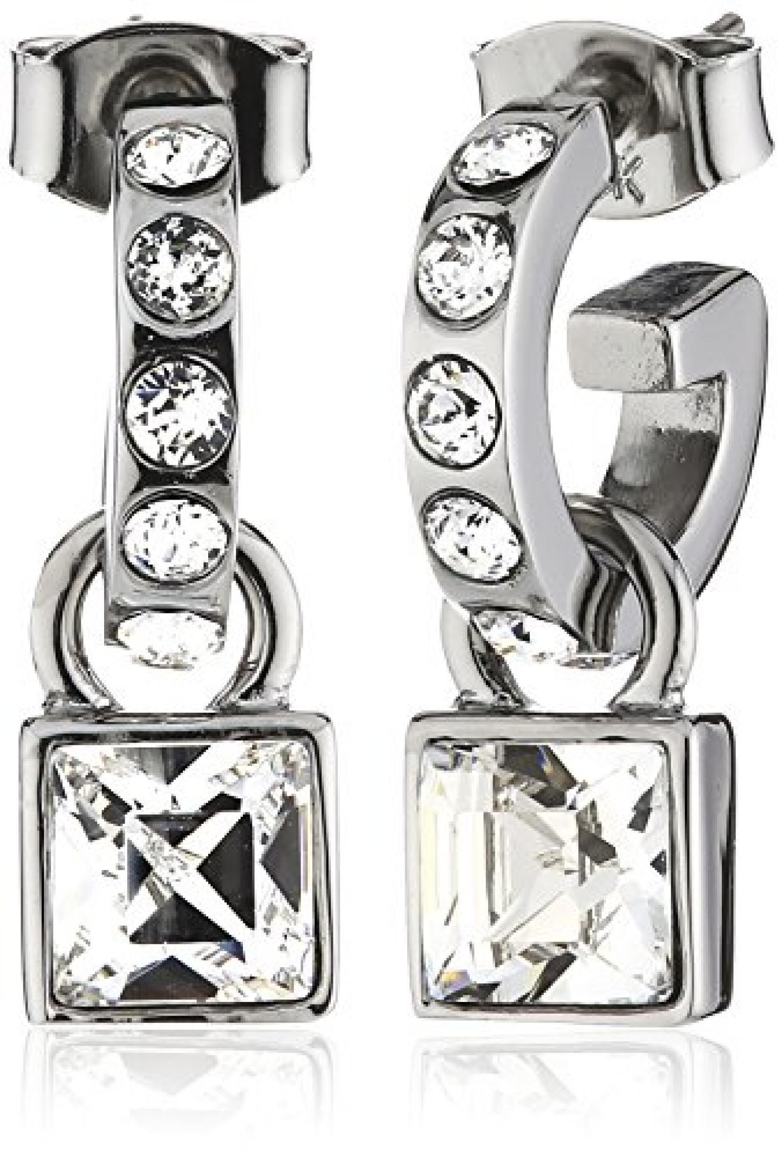 Dyrberg/Kern Damen-Creolen Versilbertes Metall Kristall Swarovski 336423
