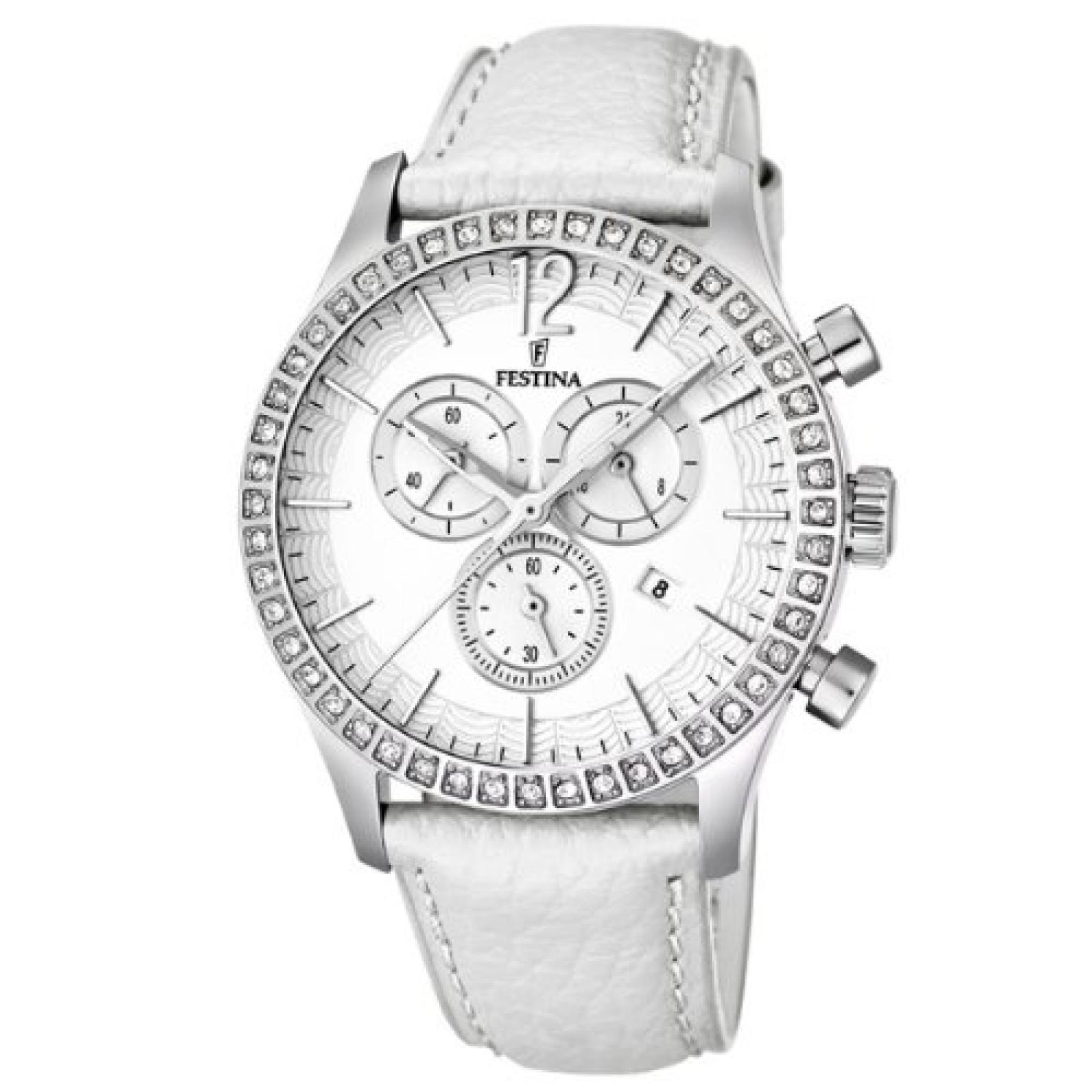 Festina Damen-Armbanduhr Analog Quarz Leder F16590/1