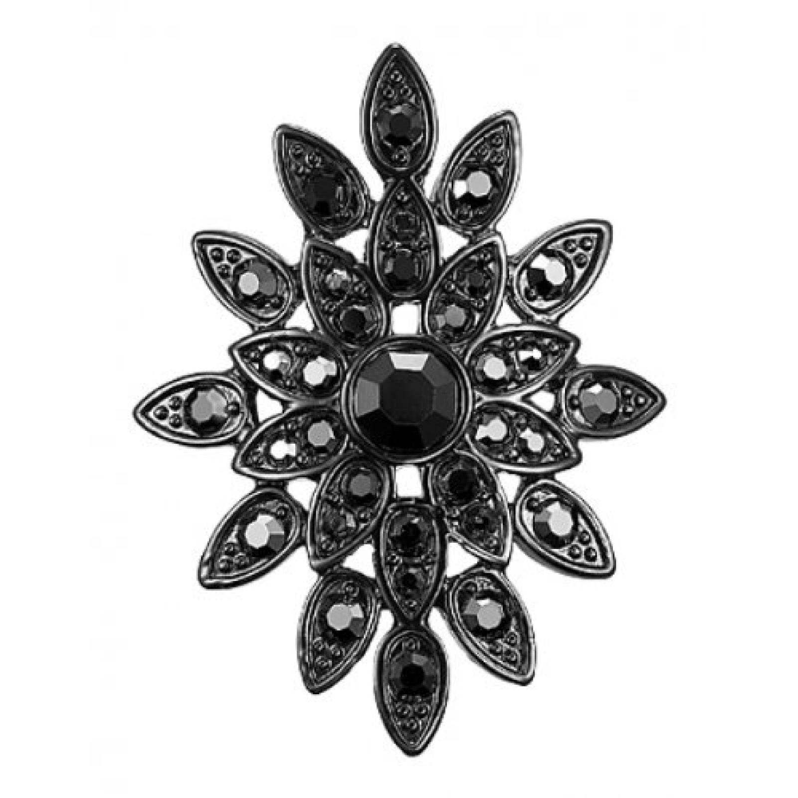 Pilgrim Jewelry Damen-Fingerring aus der Serie Stellar stone hematite beschichtet grau Verstellbar 1.8 cm 101243104