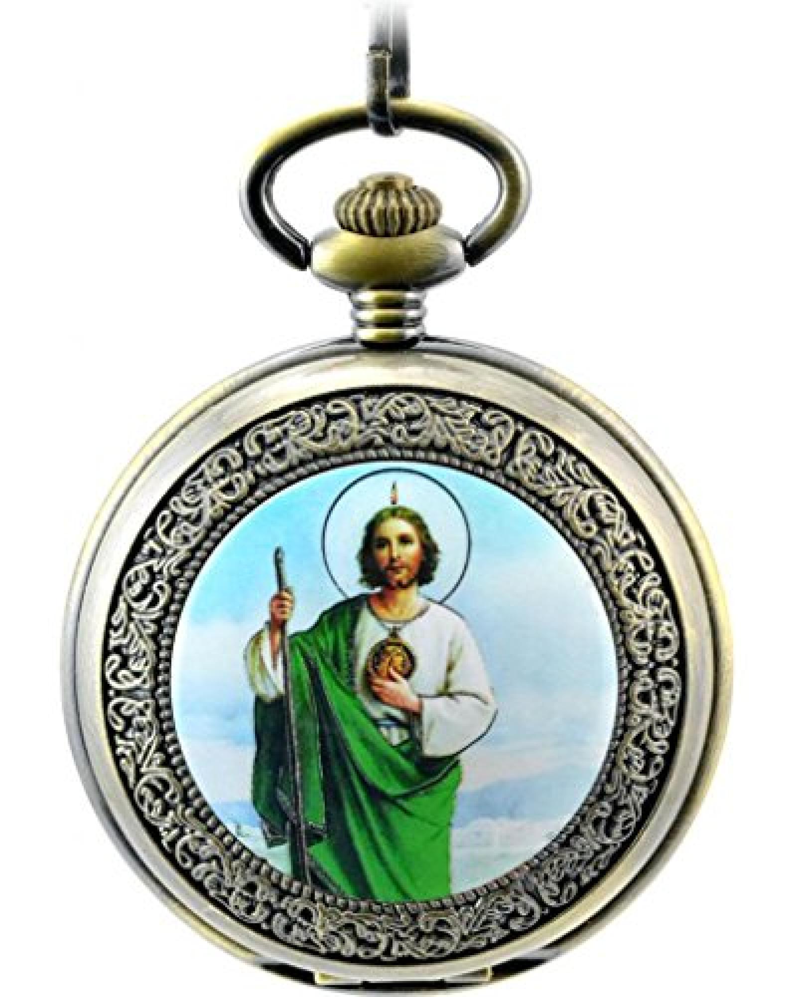 Unendlich U Unique die Jesus Christ von Christentum mit Handaufzug mechanisch Taschenuhr mit Skelett aus Stahl