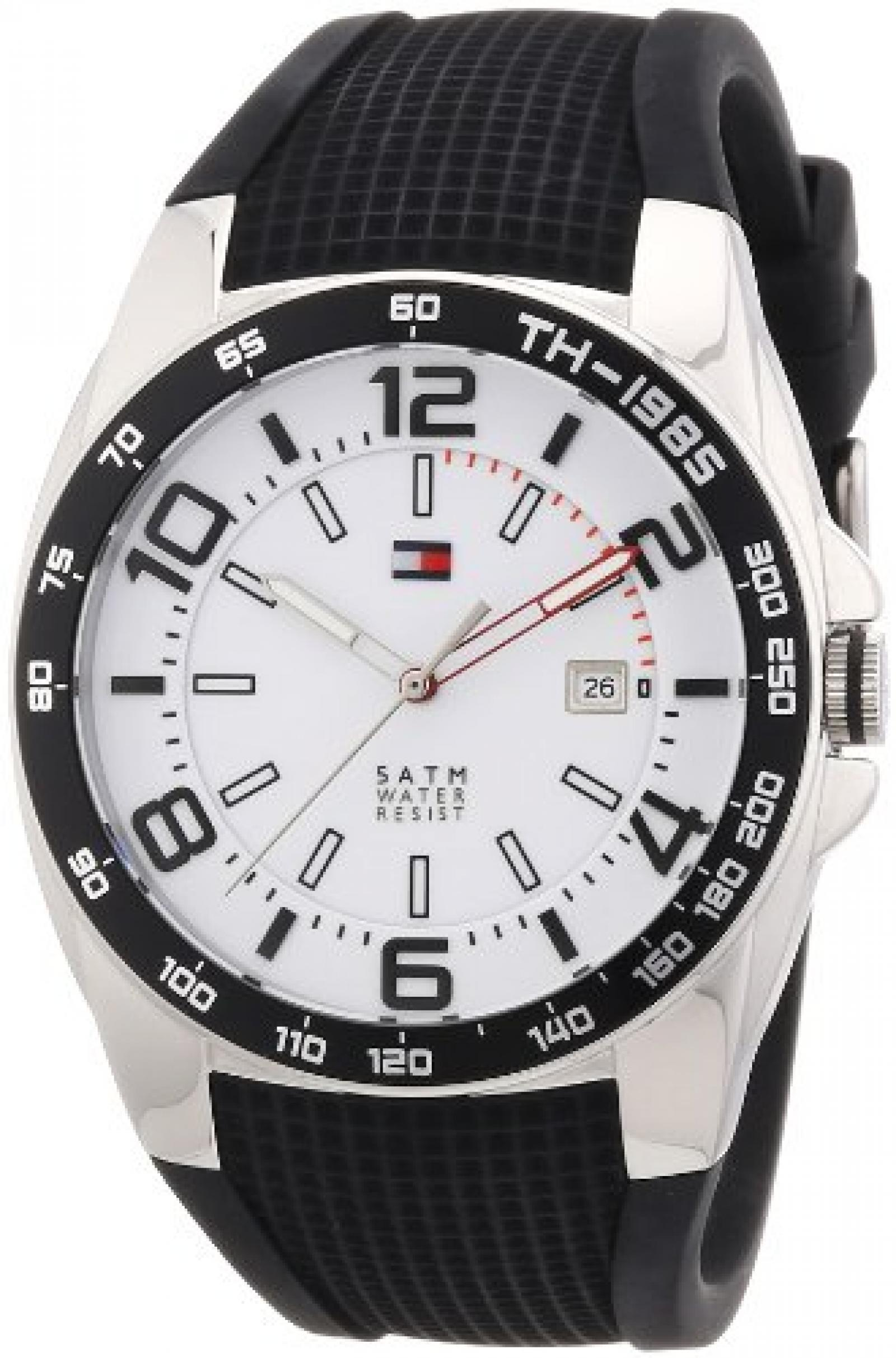 Tommy Hilfiger Watches Herren-Armbanduhr XL Analog Quarz Silikon 1790884