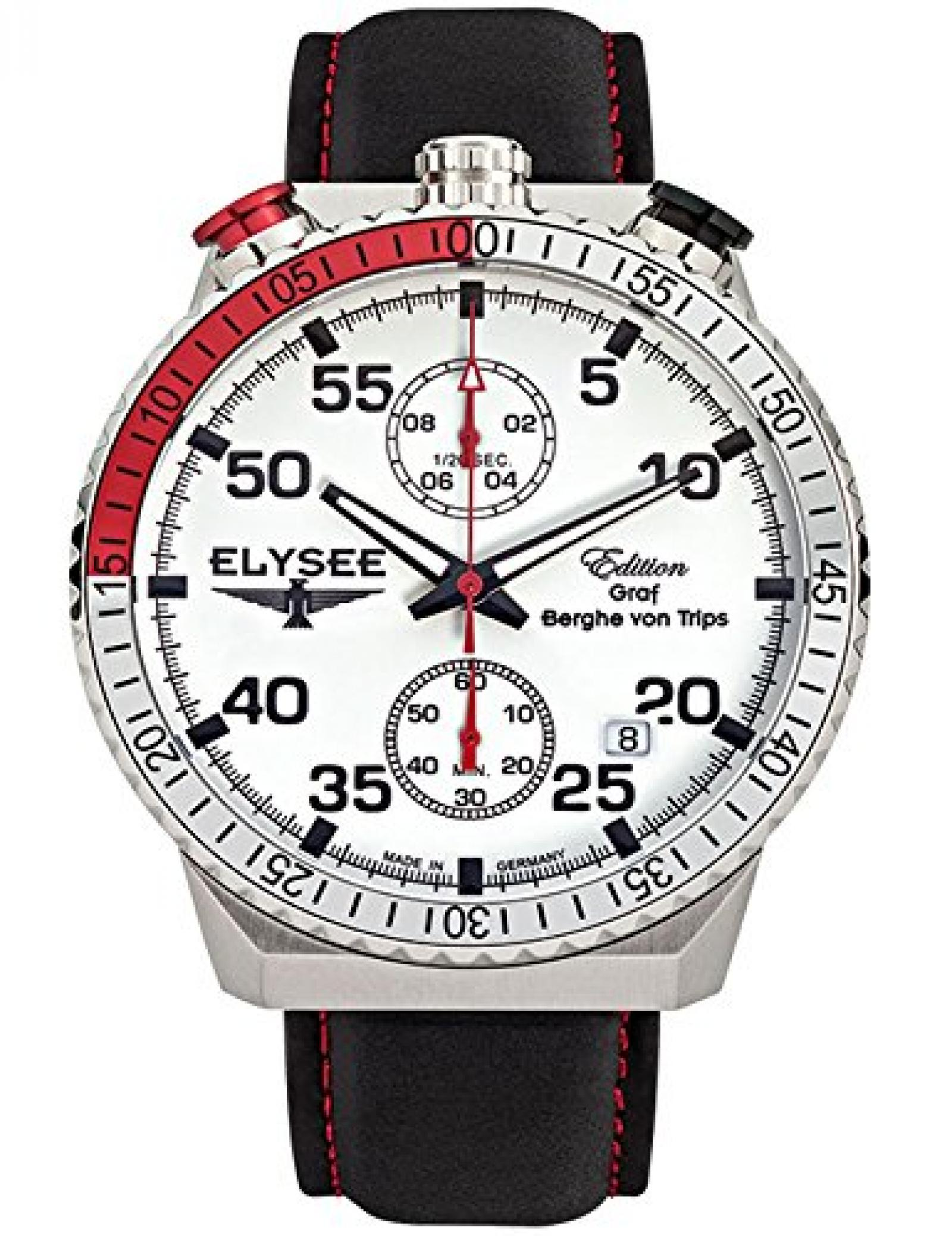 Elysee Herrenuhr Chronograph Graf Berghe Von Trips Rally Timer I 80516